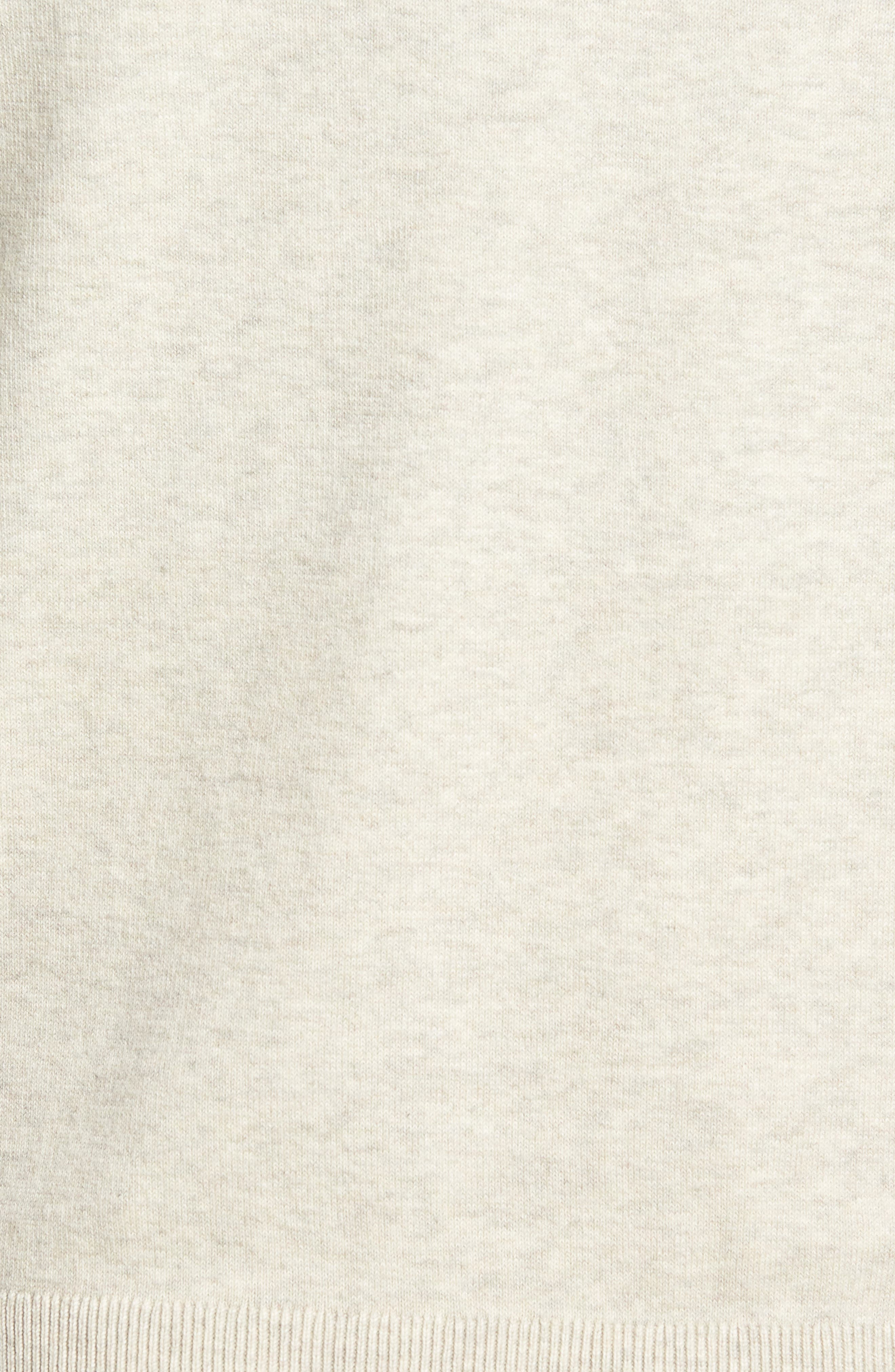 CUTTER & BUCK, Lakemont Classic Fit V-Neck Sweater, Alternate thumbnail 5, color, OATMEAL HEATHER