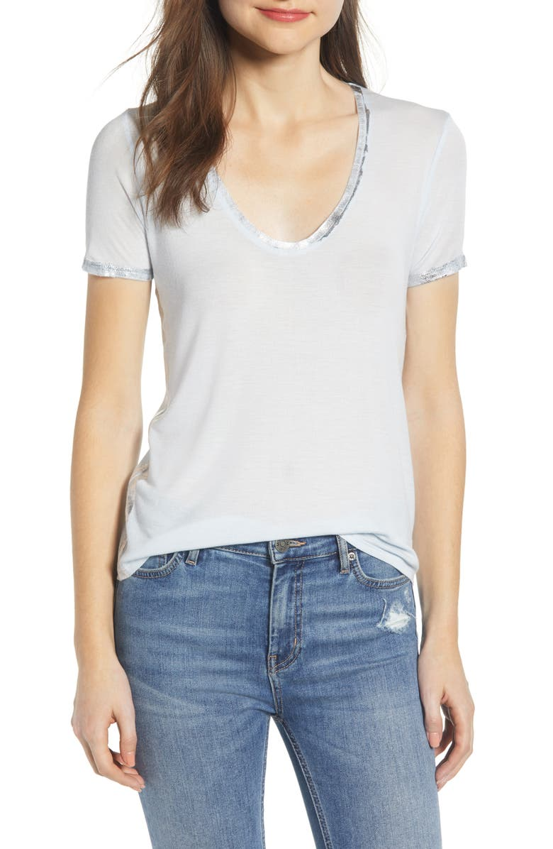 Zadig & Voltaire Tops TINO FOIL DETAIL TEE
