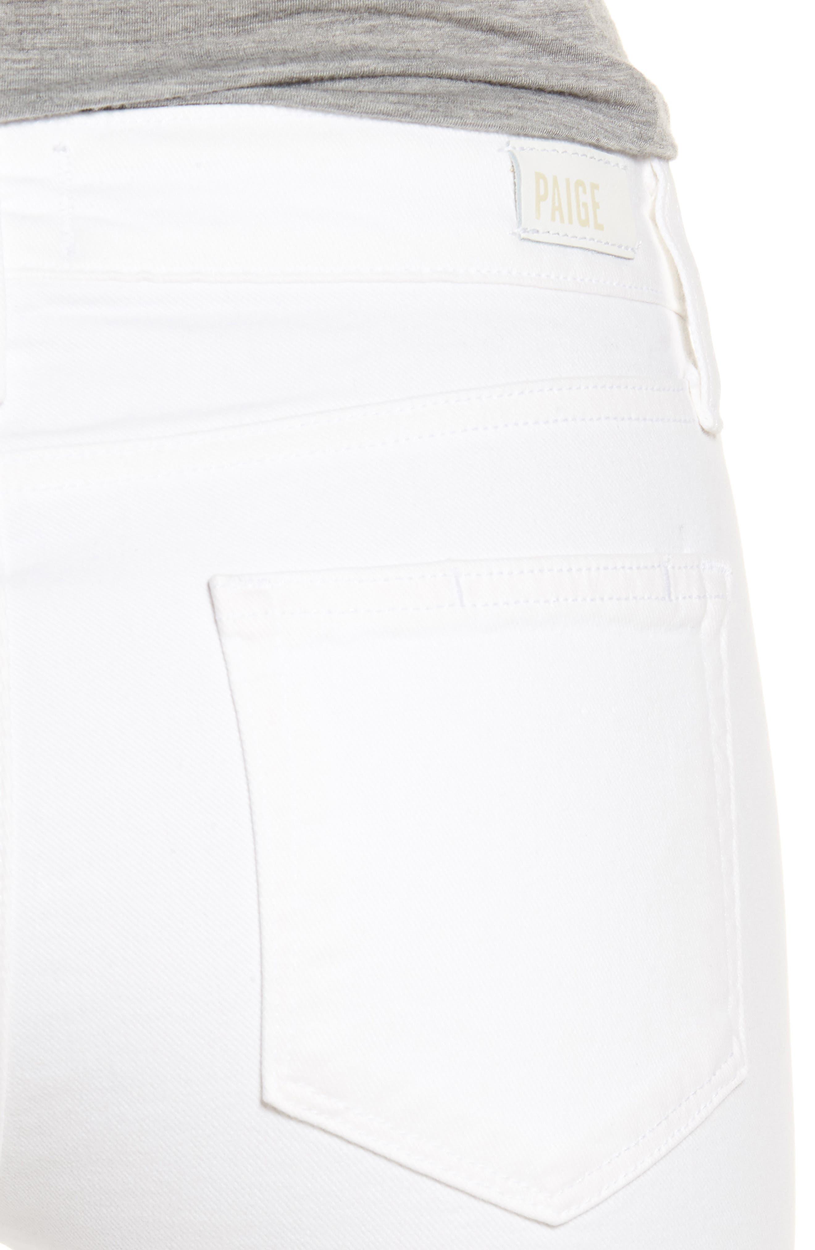 PAIGE, 'Skyline' Ankle Peg Skinny Jeans, Alternate thumbnail 5, color, 100