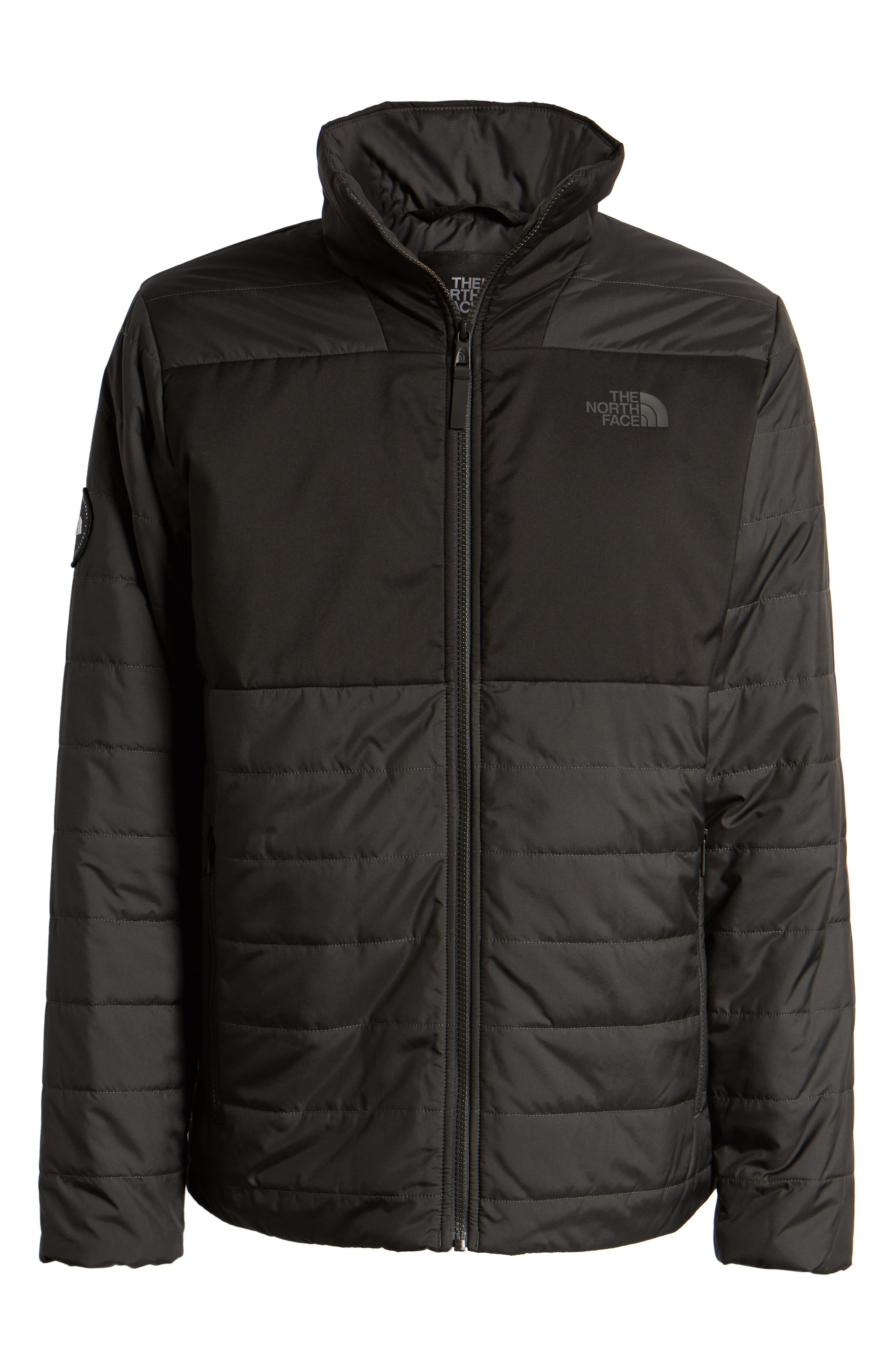 THE NORTH FACE, Insulated Jacket, Alternate thumbnail 6, color, TNF BLACK/ ASPHALT GREY