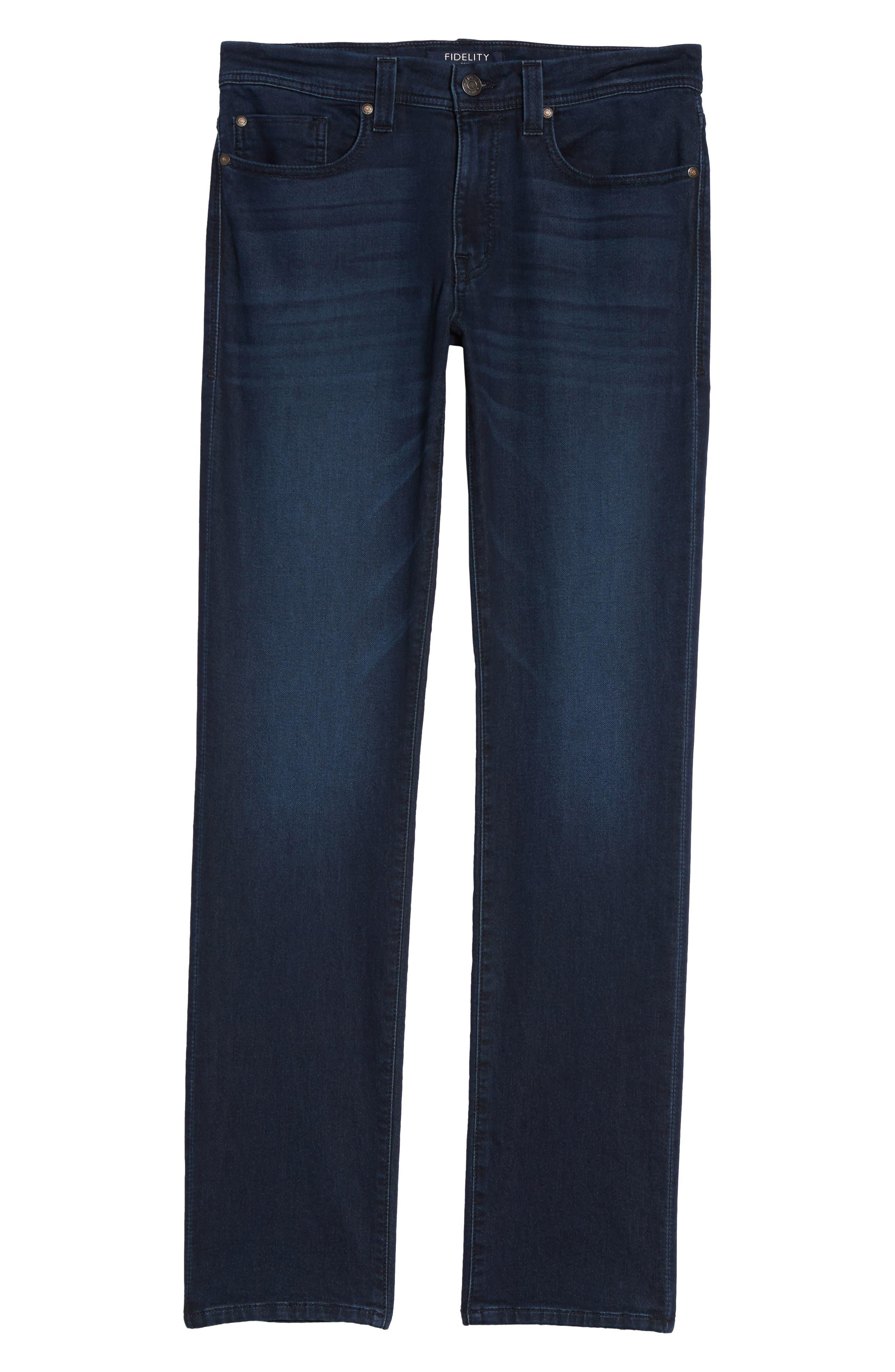 FIDELITY DENIM, Jimmy Slim Straight Leg Jeans, Alternate thumbnail 6, color, 400