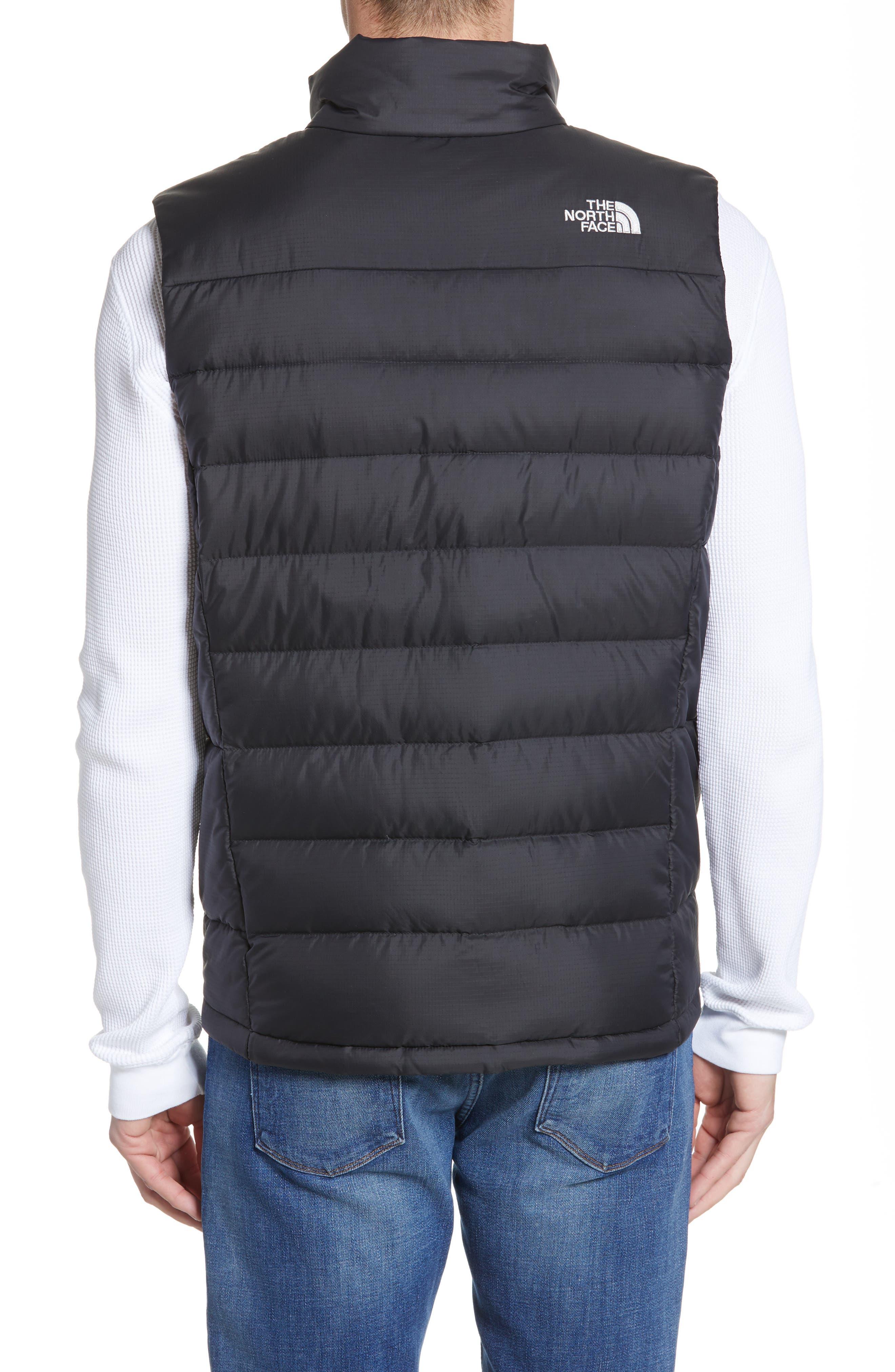 THE NORTH FACE, 'Aconcagua' Goose Down Vest, Alternate thumbnail 4, color, 001