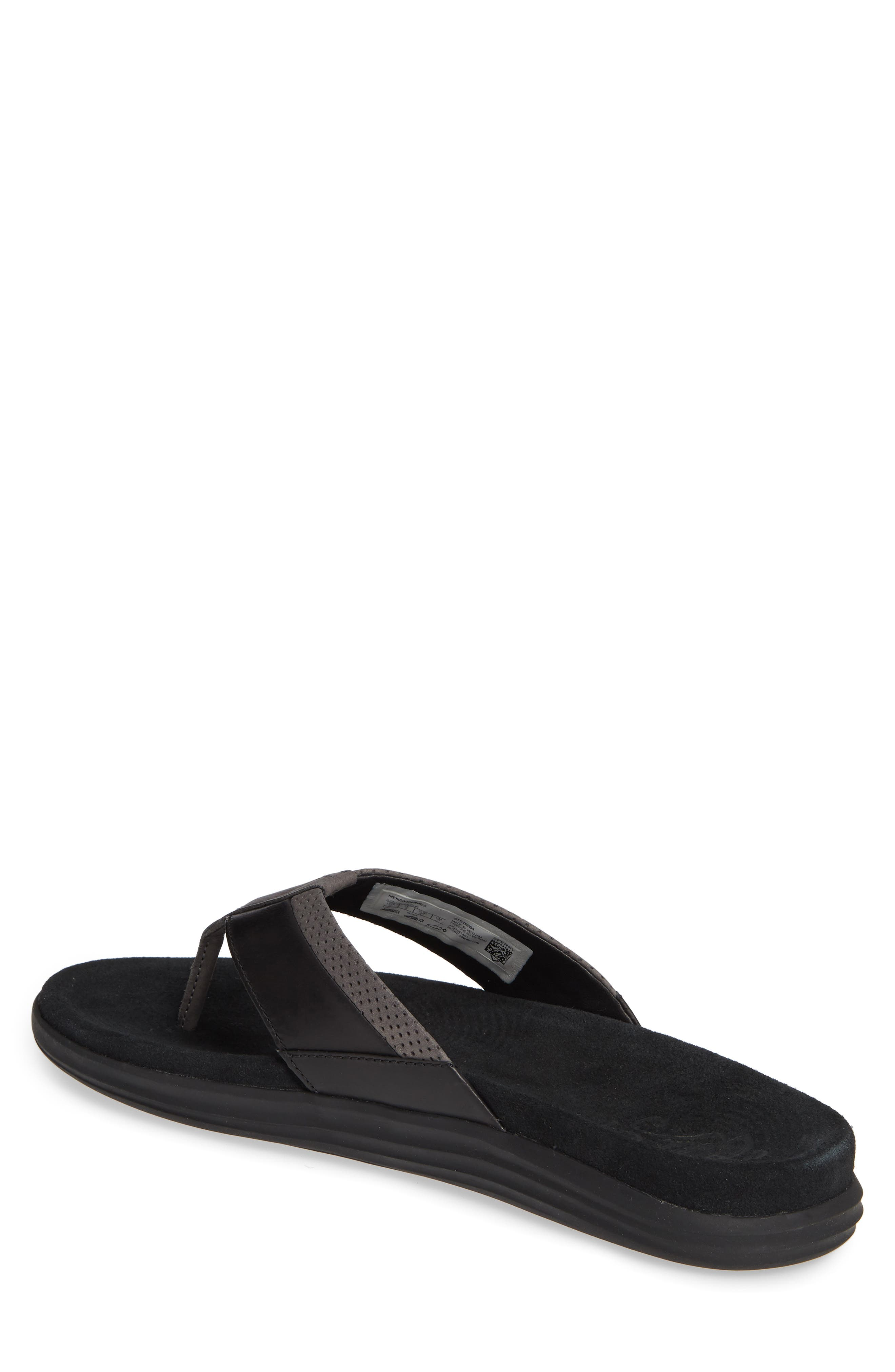 SPERRY, Gold Cup Amalfi Flip Flop, Alternate thumbnail 2, color, BLACK/ GREY LEATHER