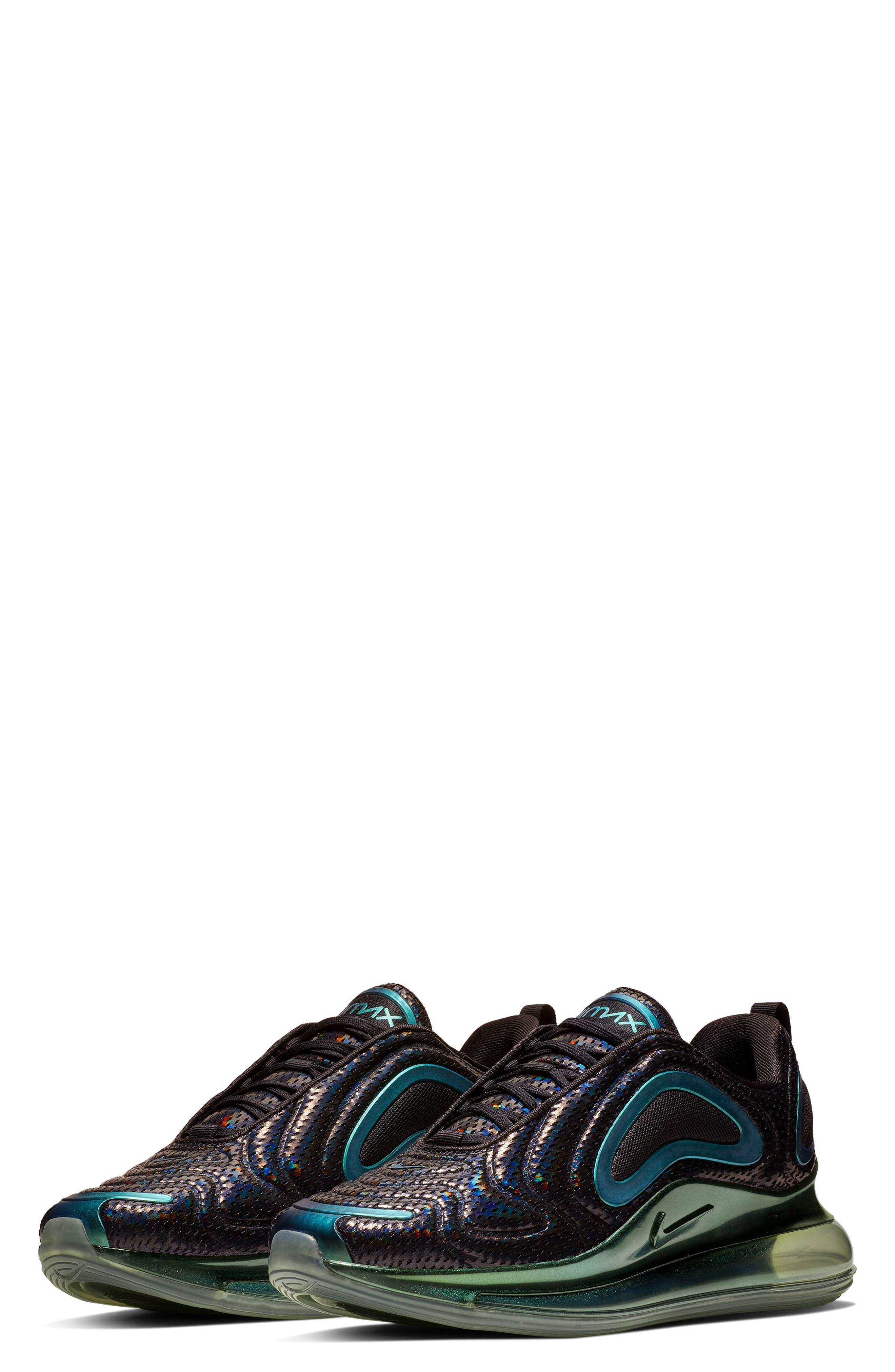 NIKE, Air Max 720 Sneaker, Main thumbnail 1, color, BLACK/ FUCHSIA/ ANTHRACITE