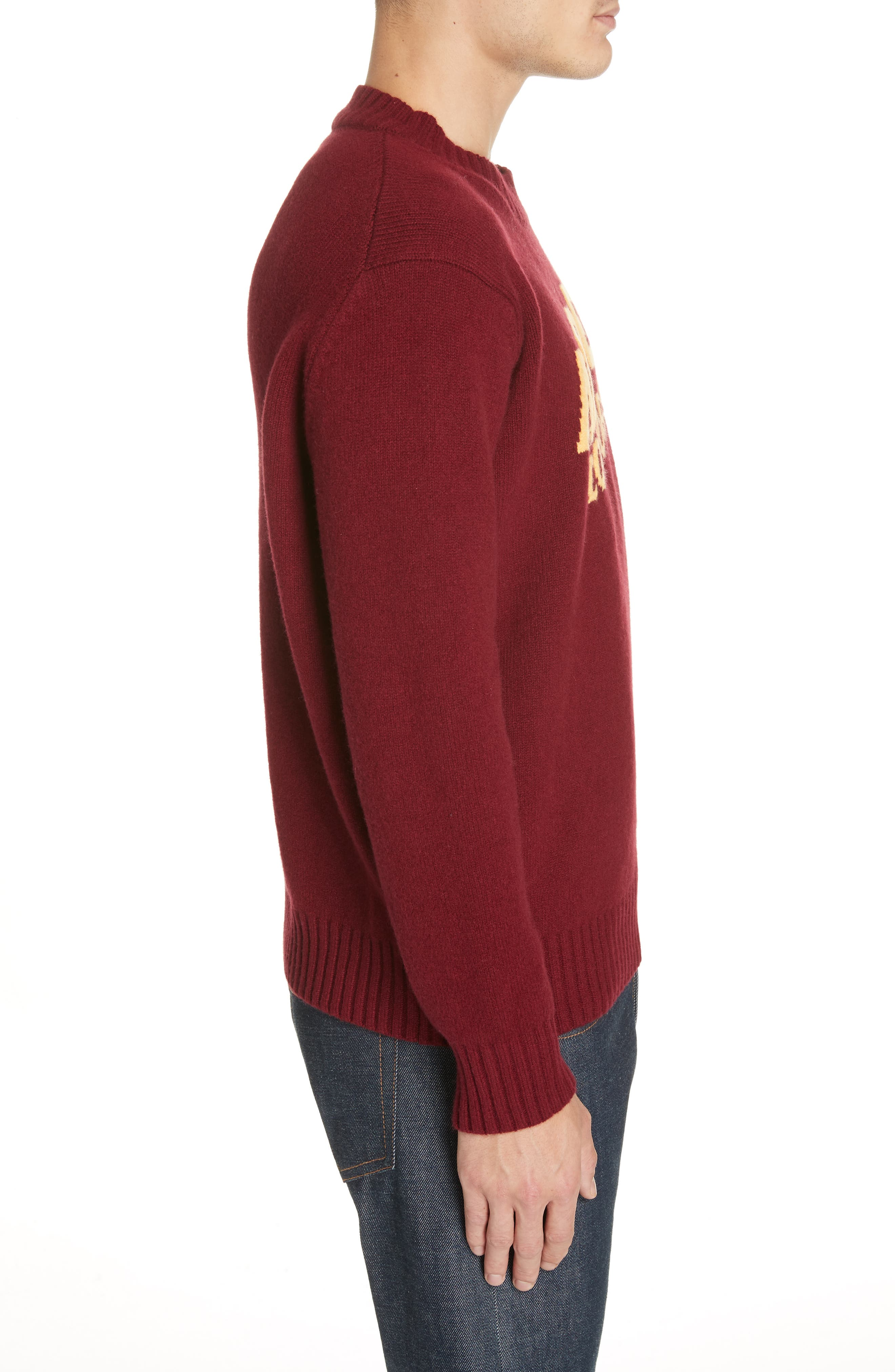MONCLER, Maglione Cashmere Sweater, Alternate thumbnail 3, color, 601