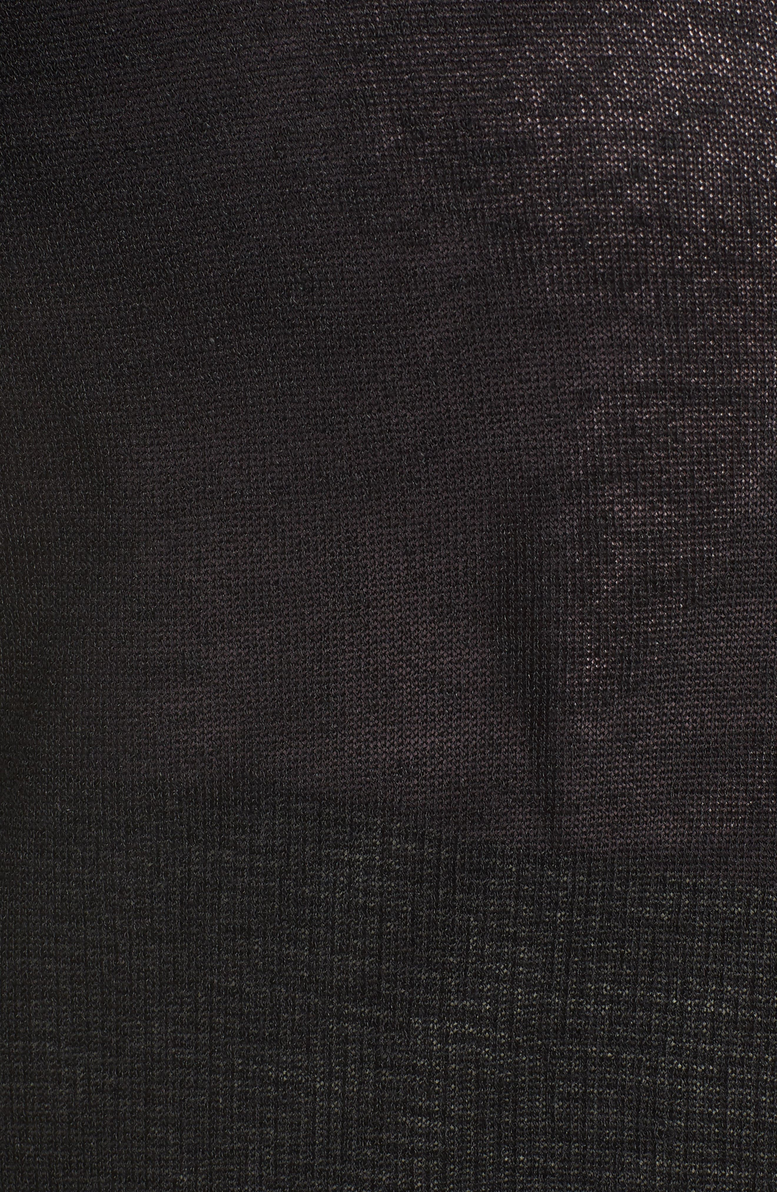 HALOGEN<SUP>®</SUP>, Long Cardigan, Alternate thumbnail 5, color, BLACK