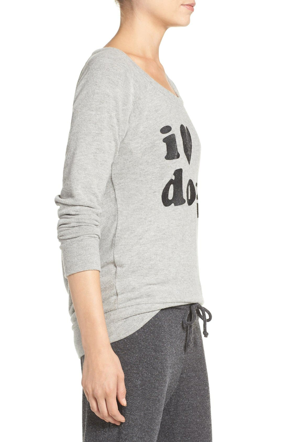 CHASER, I Love Dogs Pullover Top, Alternate thumbnail 2, color, 039