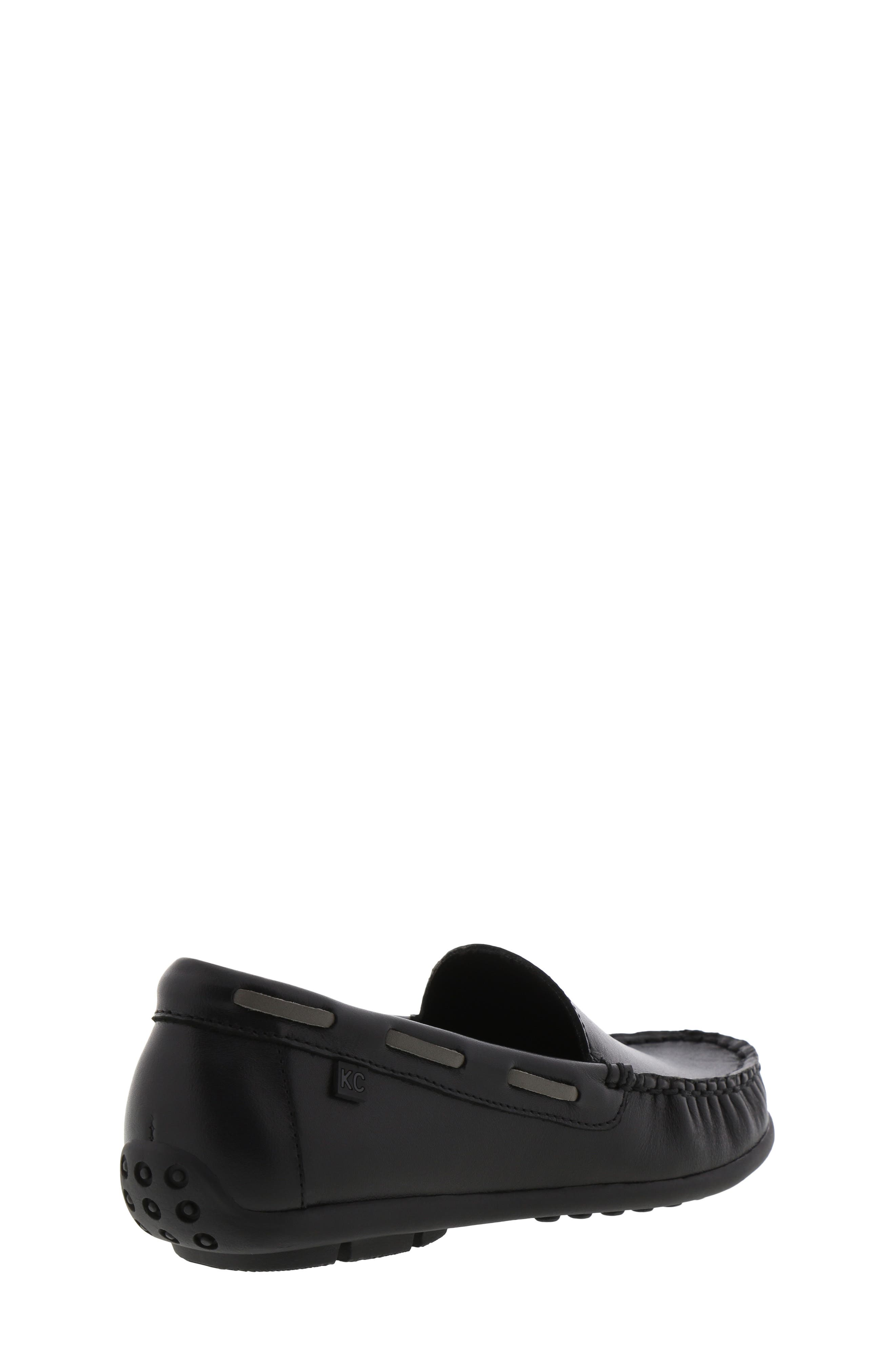 REACTION KENNETH COLE, Helio Shift Driving Moccasin, Alternate thumbnail 2, color, BLACK SMOOTH