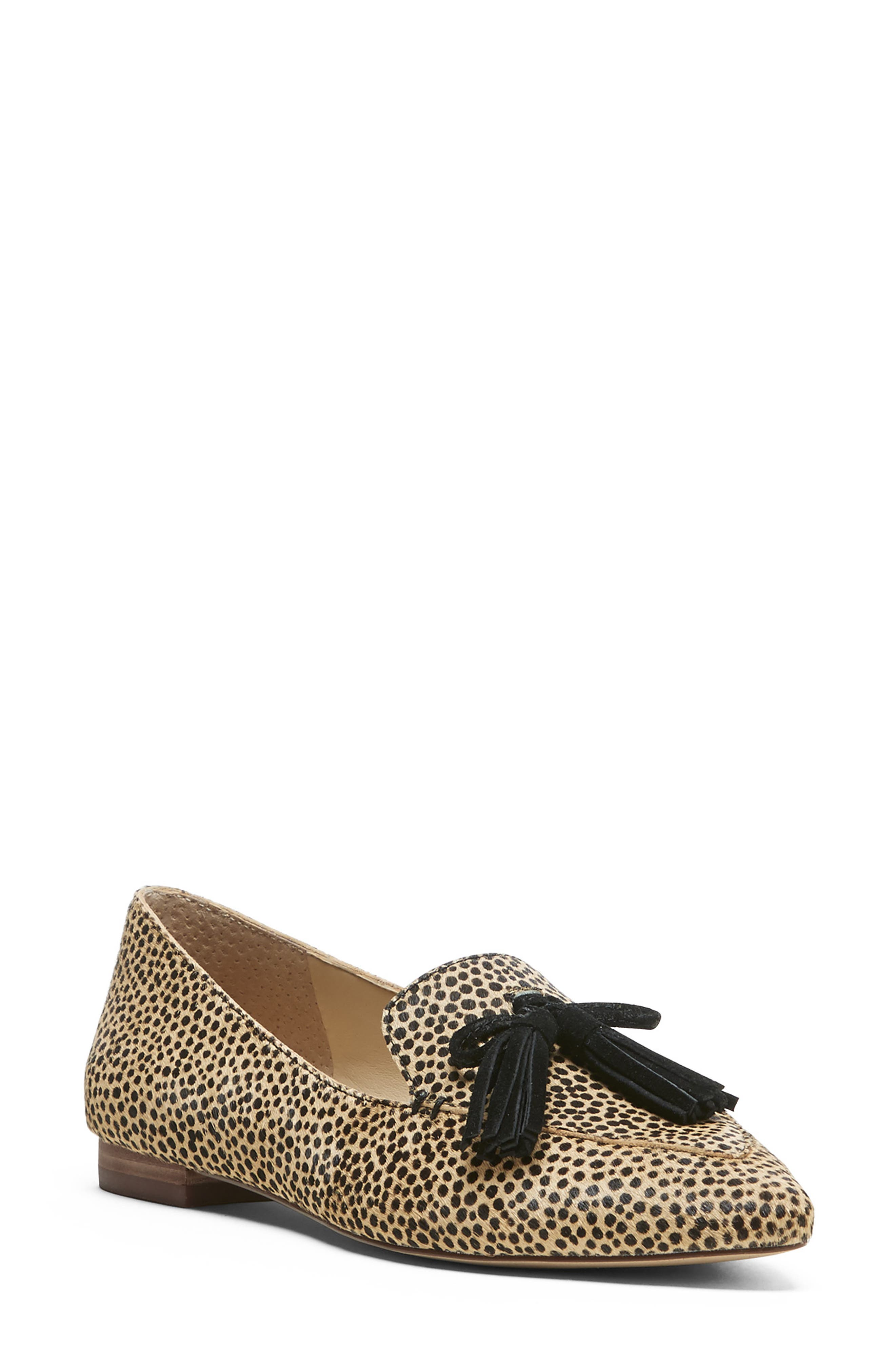 SOLE SOCIETY, Hadlee Loafer, Main thumbnail 1, color, DOTTED CALF HAIR