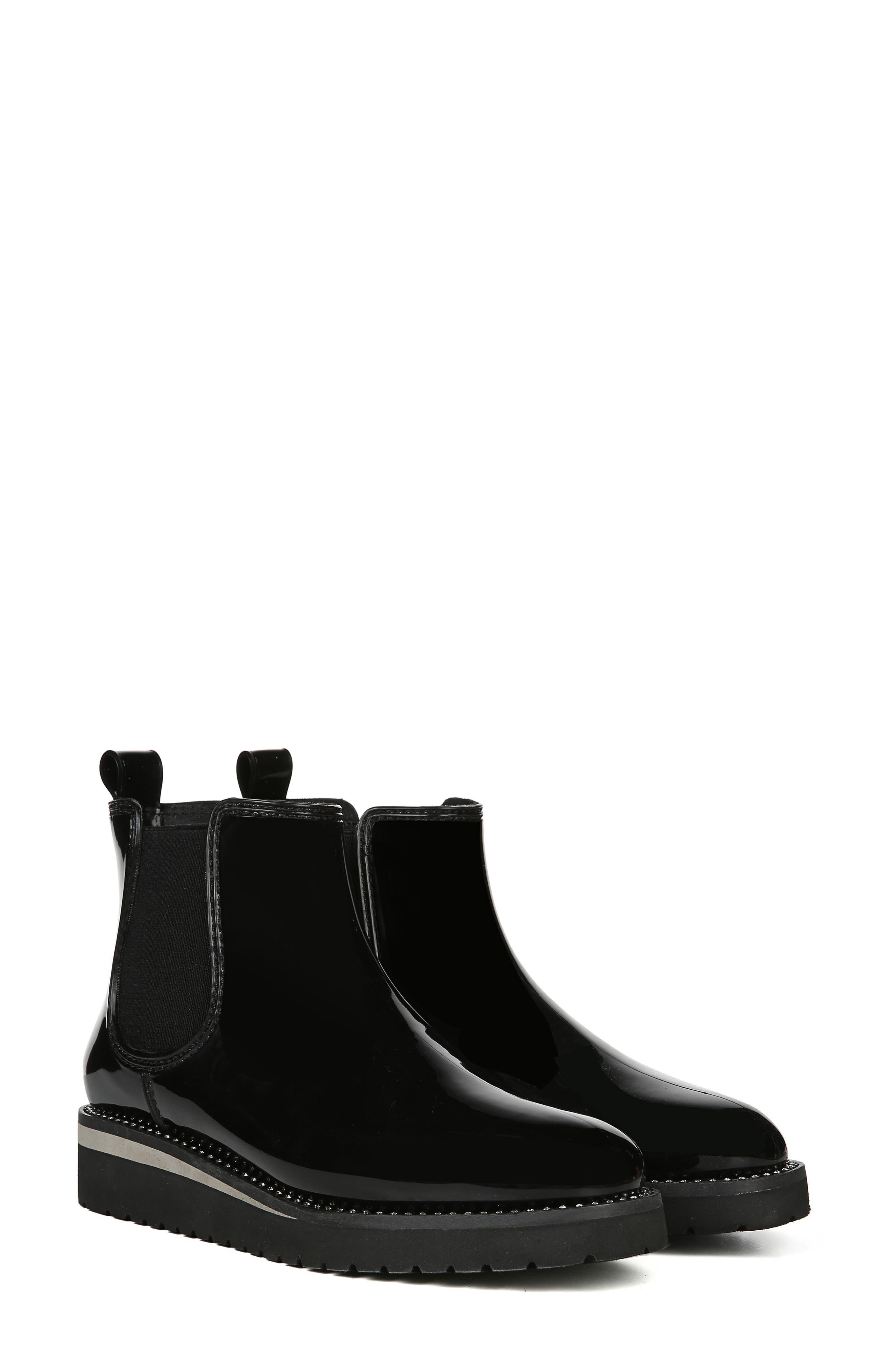 NATURALIZER, Luna Waterproof Chelsea Boot, Alternate thumbnail 9, color, BLACK