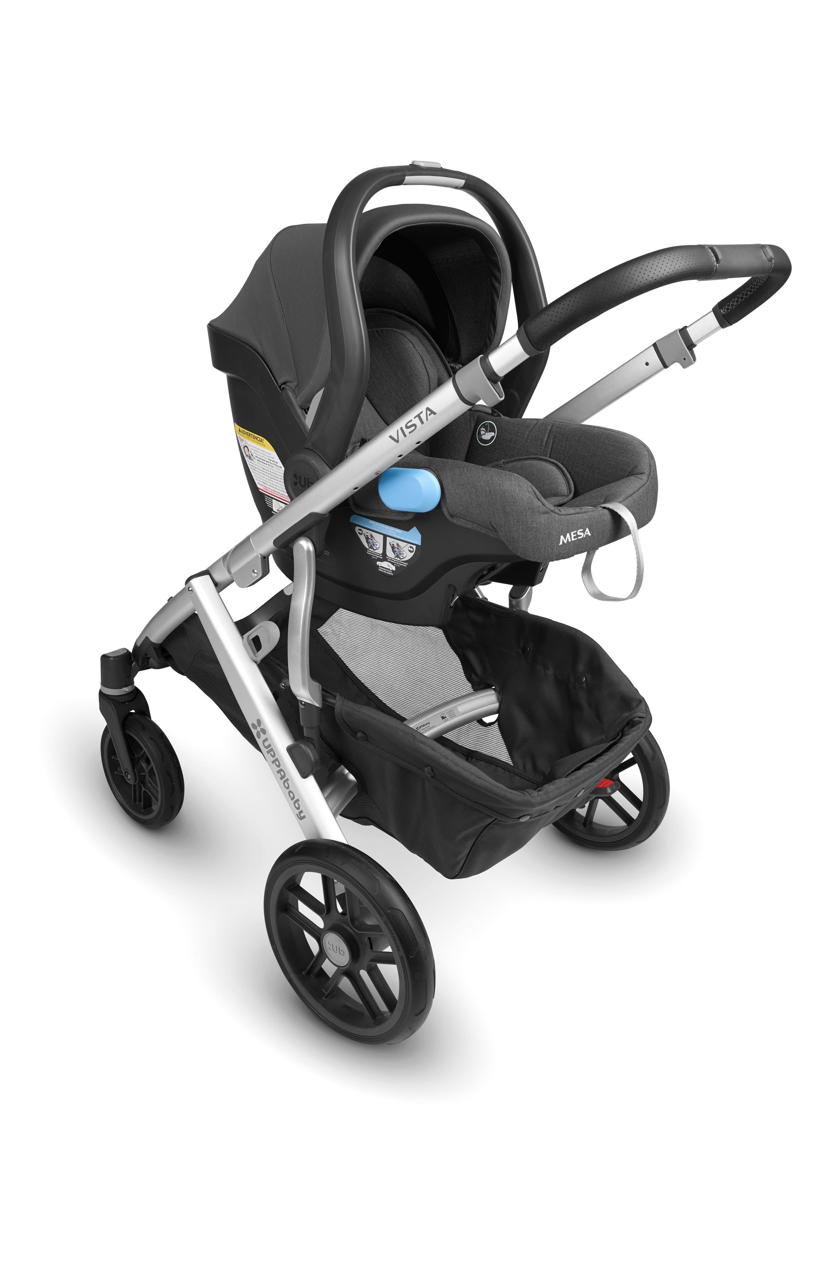 UPPABABY, MESA 2018 Infant Car Seat, Alternate thumbnail 3, color, JORDAN CHARCOAL/ WOOL