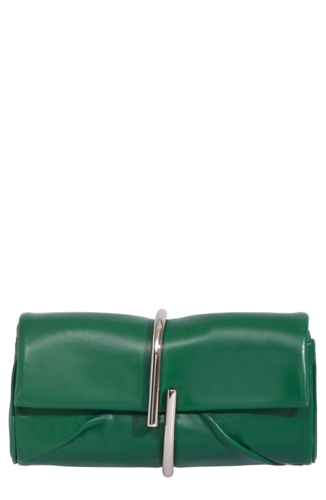 3.1 PHILLIP LIM, 'Alix' Leather Minaudiere, Main thumbnail 1, color, 300