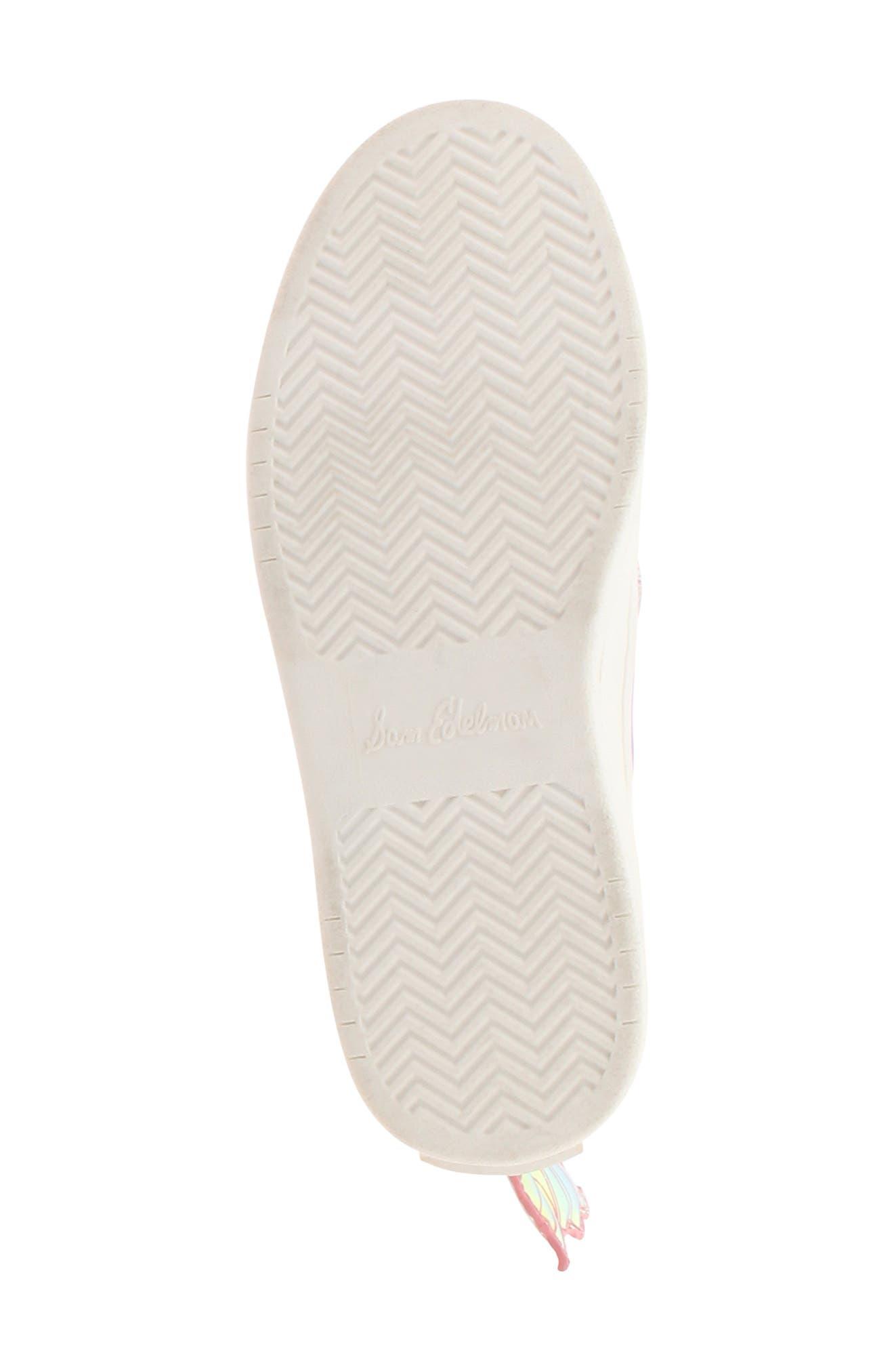 SAM EDELMAN, Blake Lina Fairy Glitter Slip-On Sneaker, Alternate thumbnail 6, color, PINK/ PURPLE