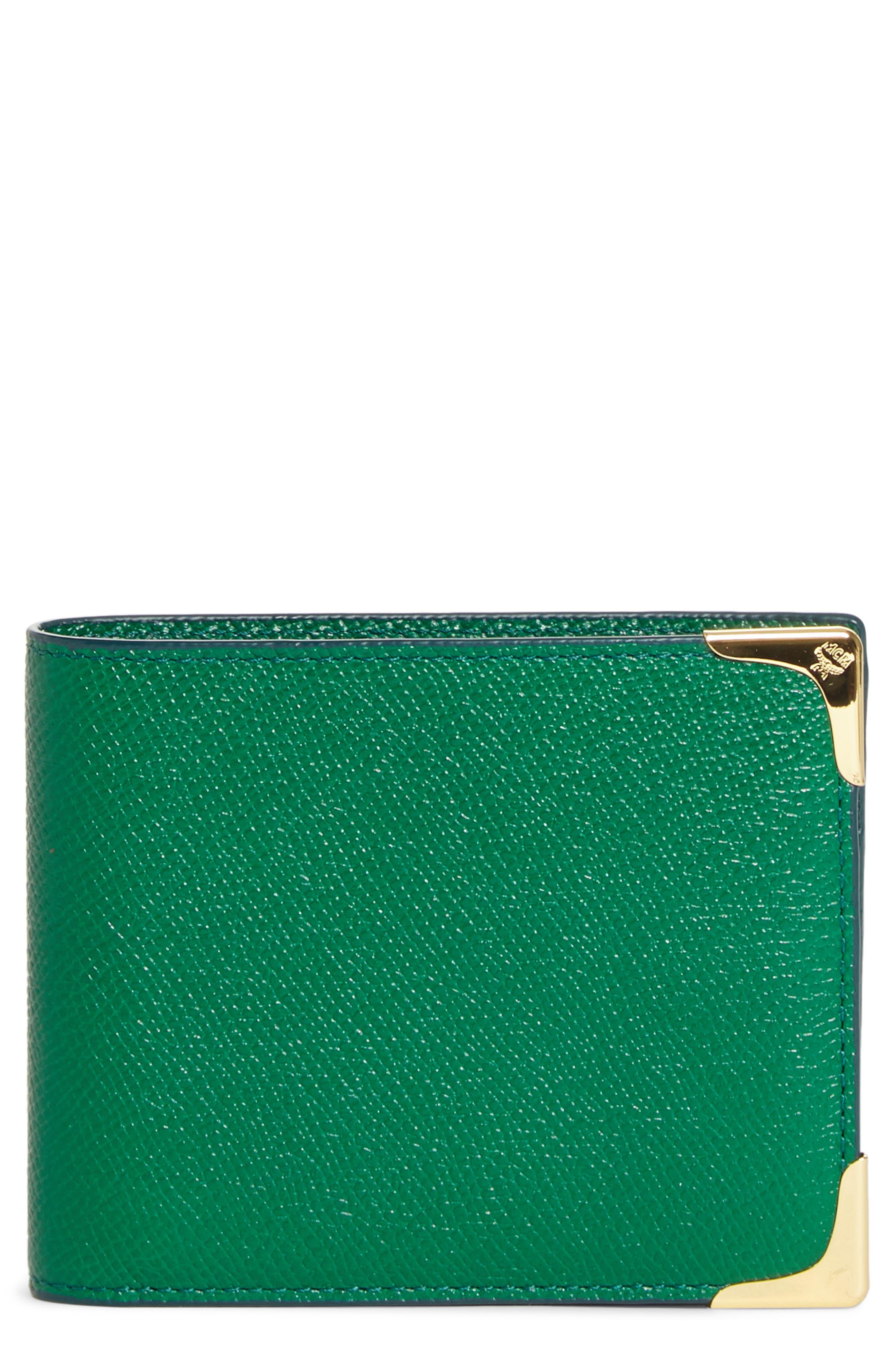 MCM Small RGB Coin Wallet, Main, color, GREEN
