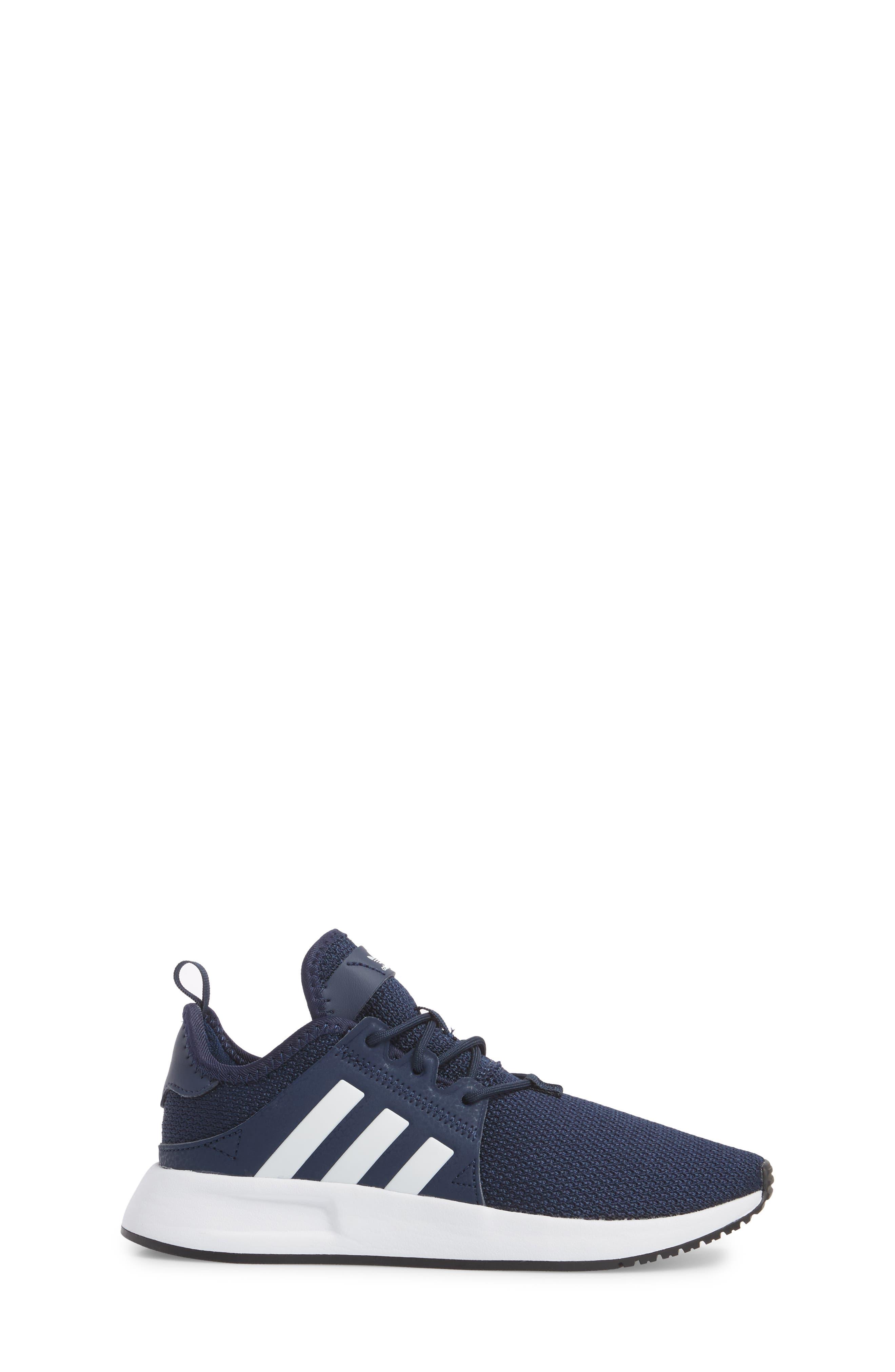 ADIDAS, X_PLR Sneaker, Alternate thumbnail 3, color, COLLEGIATE NAVY/ WHITE