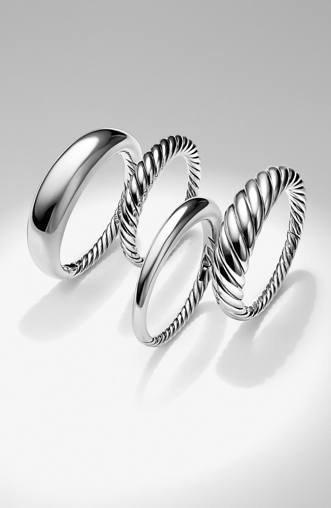 DAVID YURMAN, 'Pure Form' Small Cable Bracelet, Alternate thumbnail 3, color, SILVER
