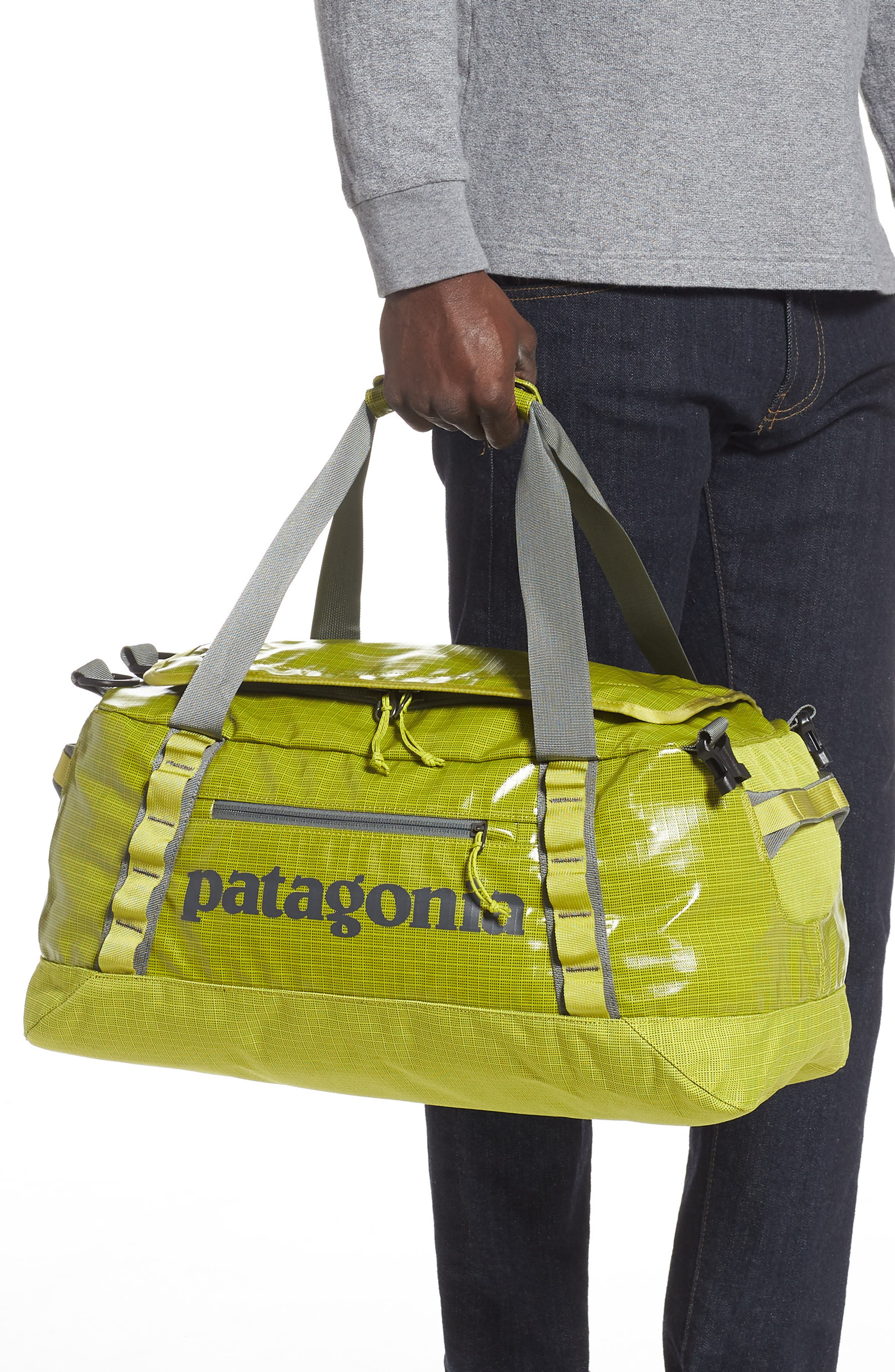 PATAGONIA, Black Hole Water Repellent 45-Liter Duffle Bag, Alternate thumbnail 2, color, FOLIOS GREEN