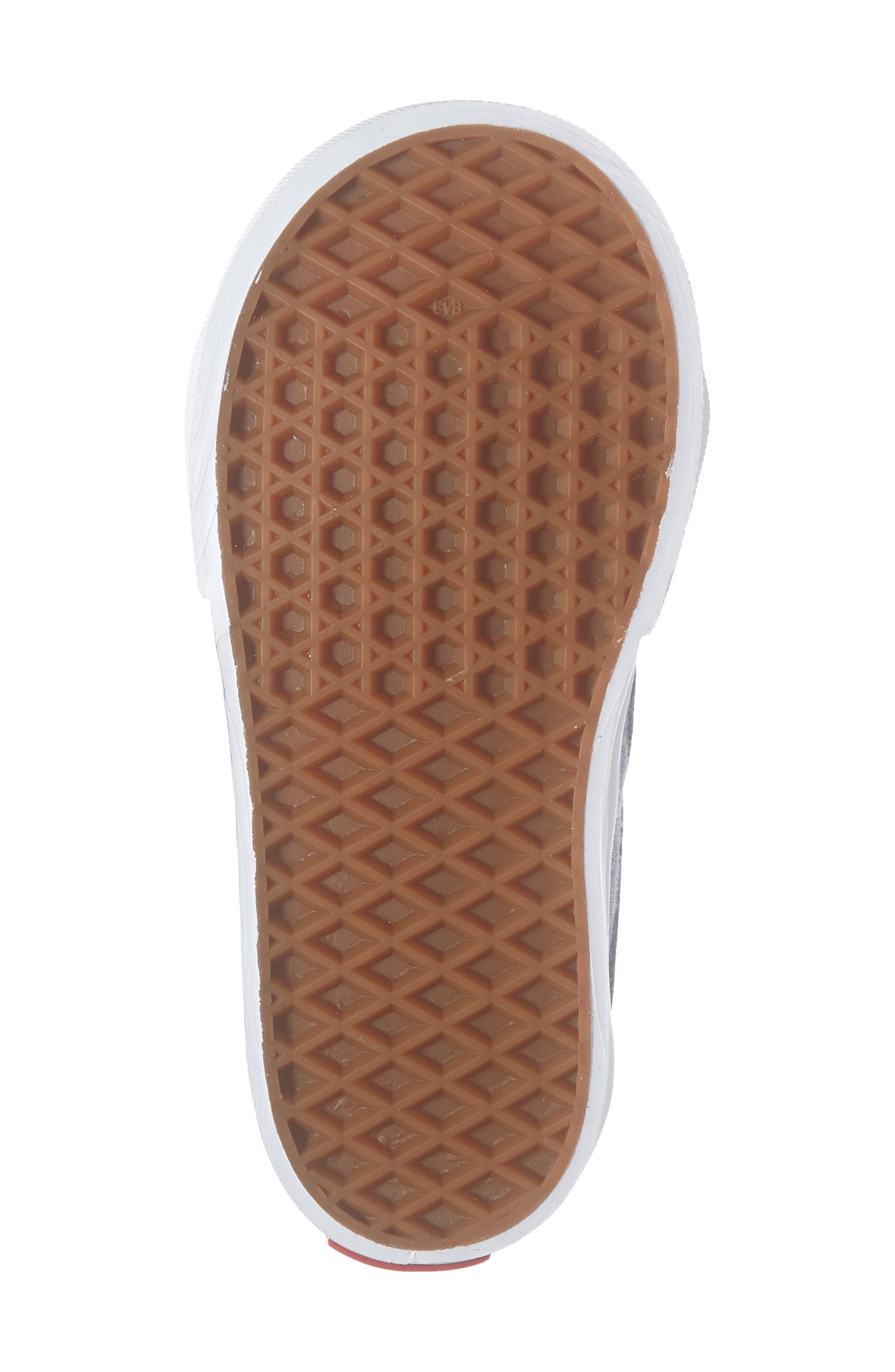 VANS, 'Sk8-Hi' Sneaker, Alternate thumbnail 6, color, CHAMBRAY CANVAS NAVY/ WHITE