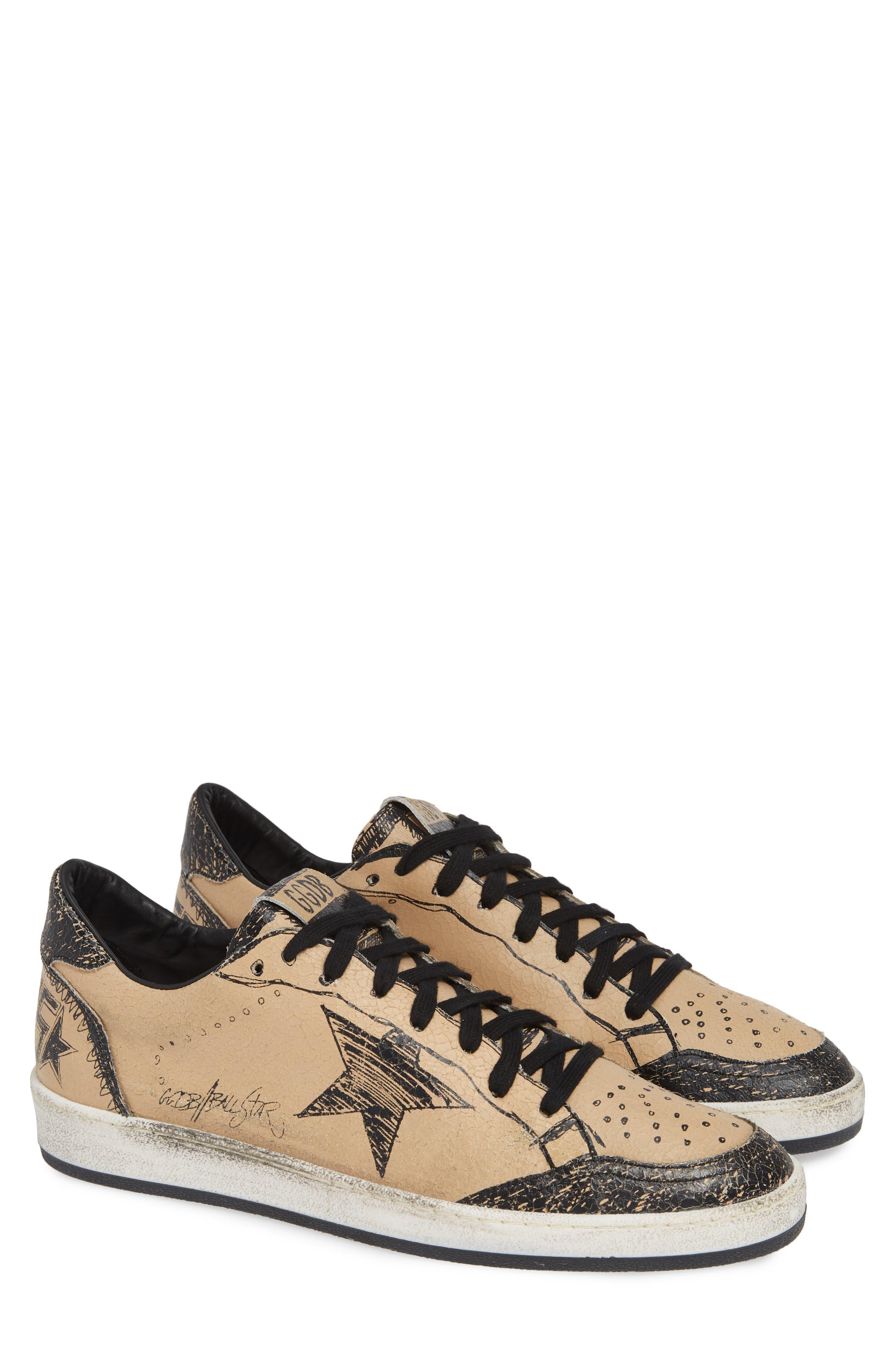 GOLDEN GOOSE, B-Ball Star Sneaker, Main thumbnail 1, color, BLACK DRAWING