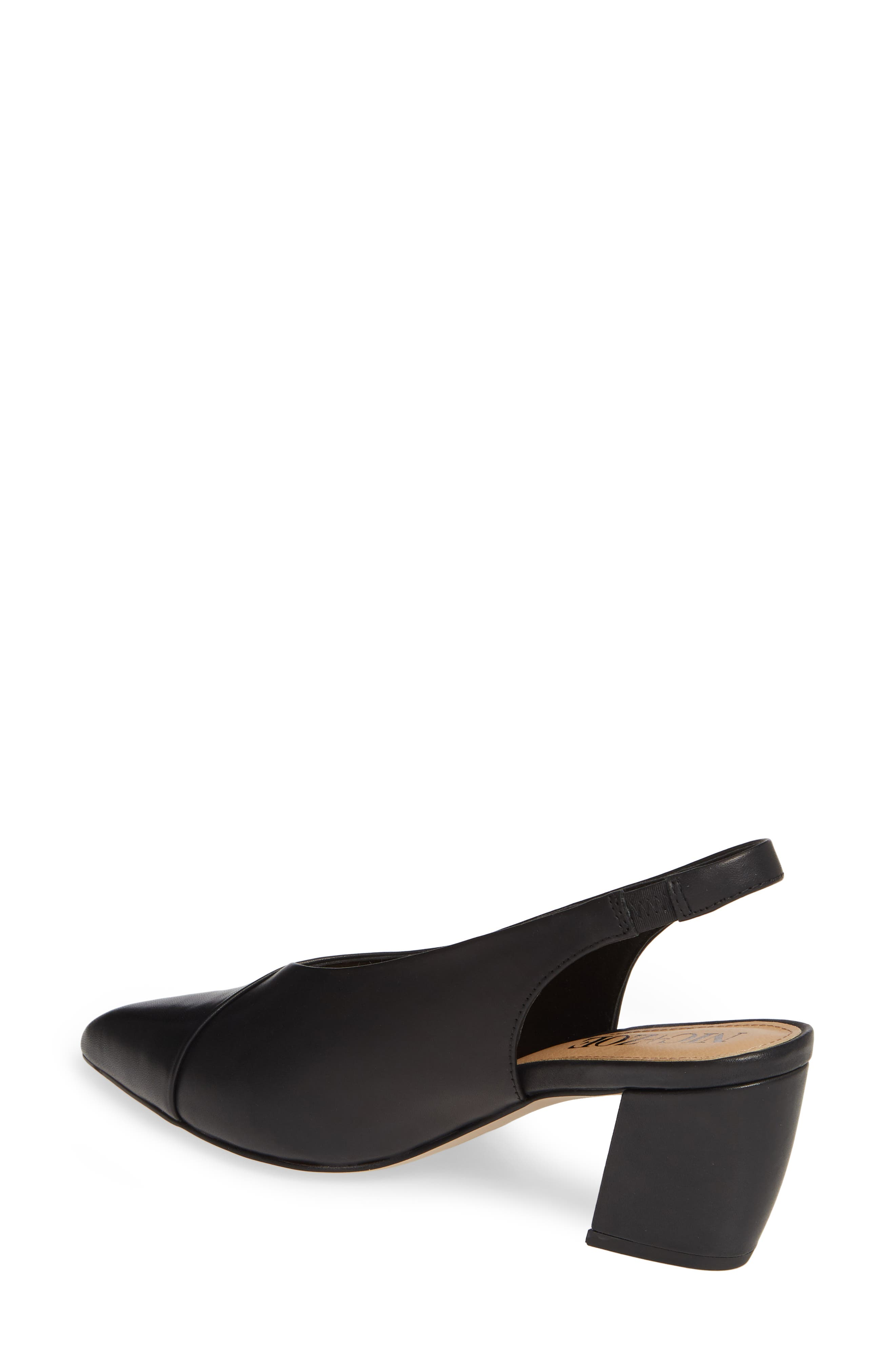 NIC+ZOE, Camille Slingback Pointy Toe Pump, Alternate thumbnail 2, color, BLACK LEATHER