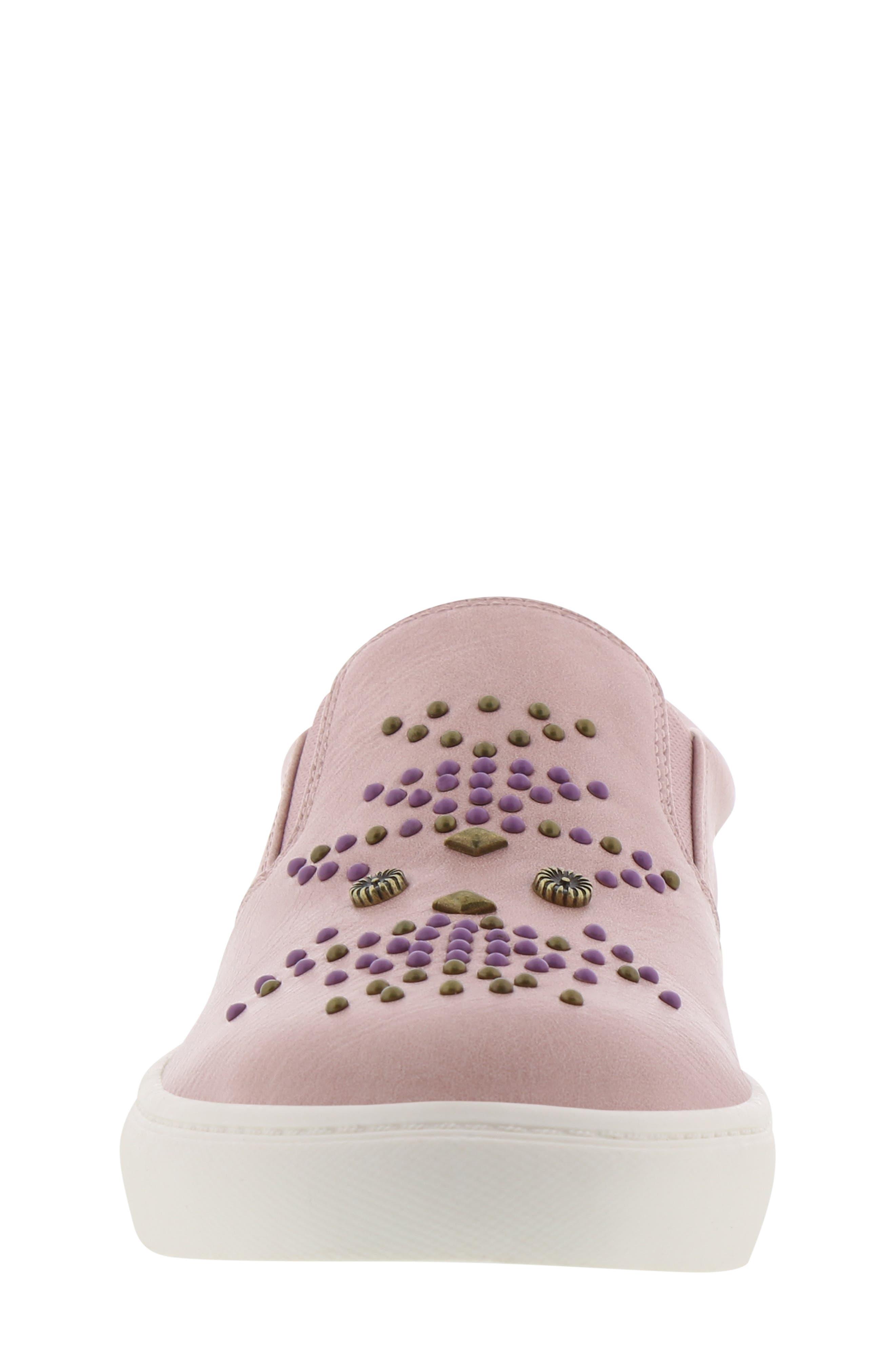 FRYE, Lena Studded Sneaker, Alternate thumbnail 4, color, 686