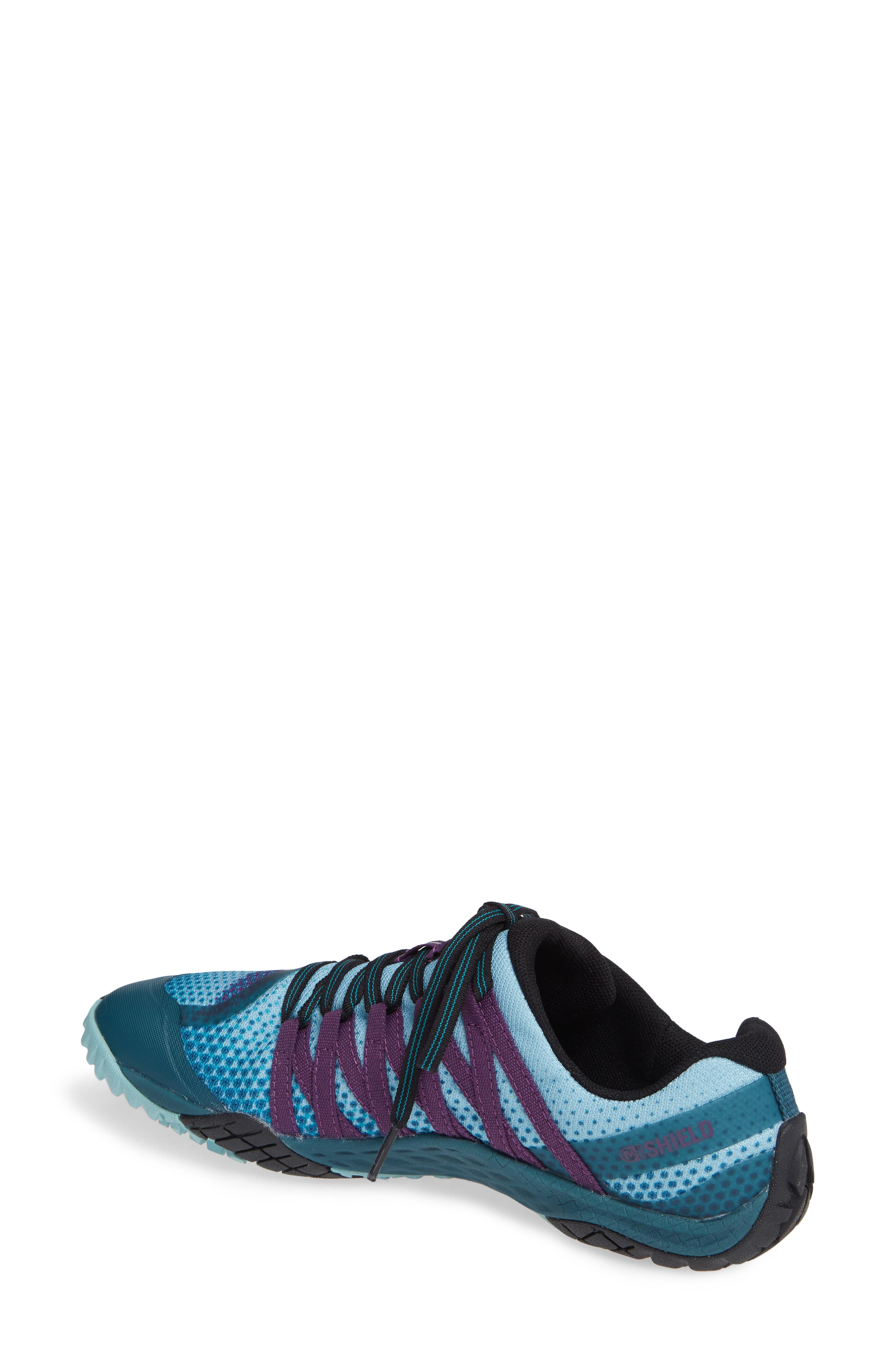 MERRELL, Trail Glove 4 Shield Water Resistant Running Shoe, Alternate thumbnail 2, color, 400