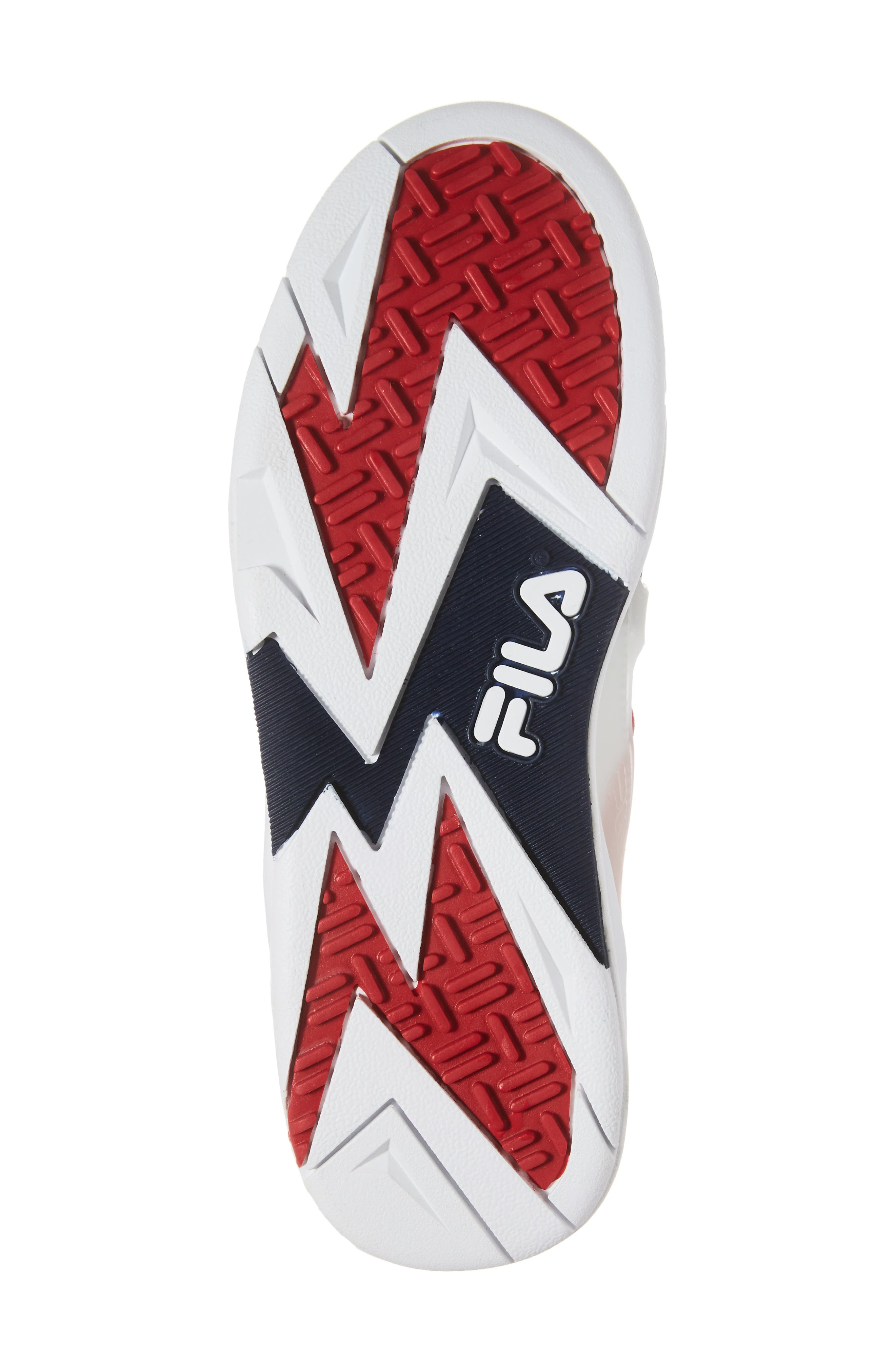 FILA, Cage 17 Logo High Top Sneaker, Alternate thumbnail 6, color, 125