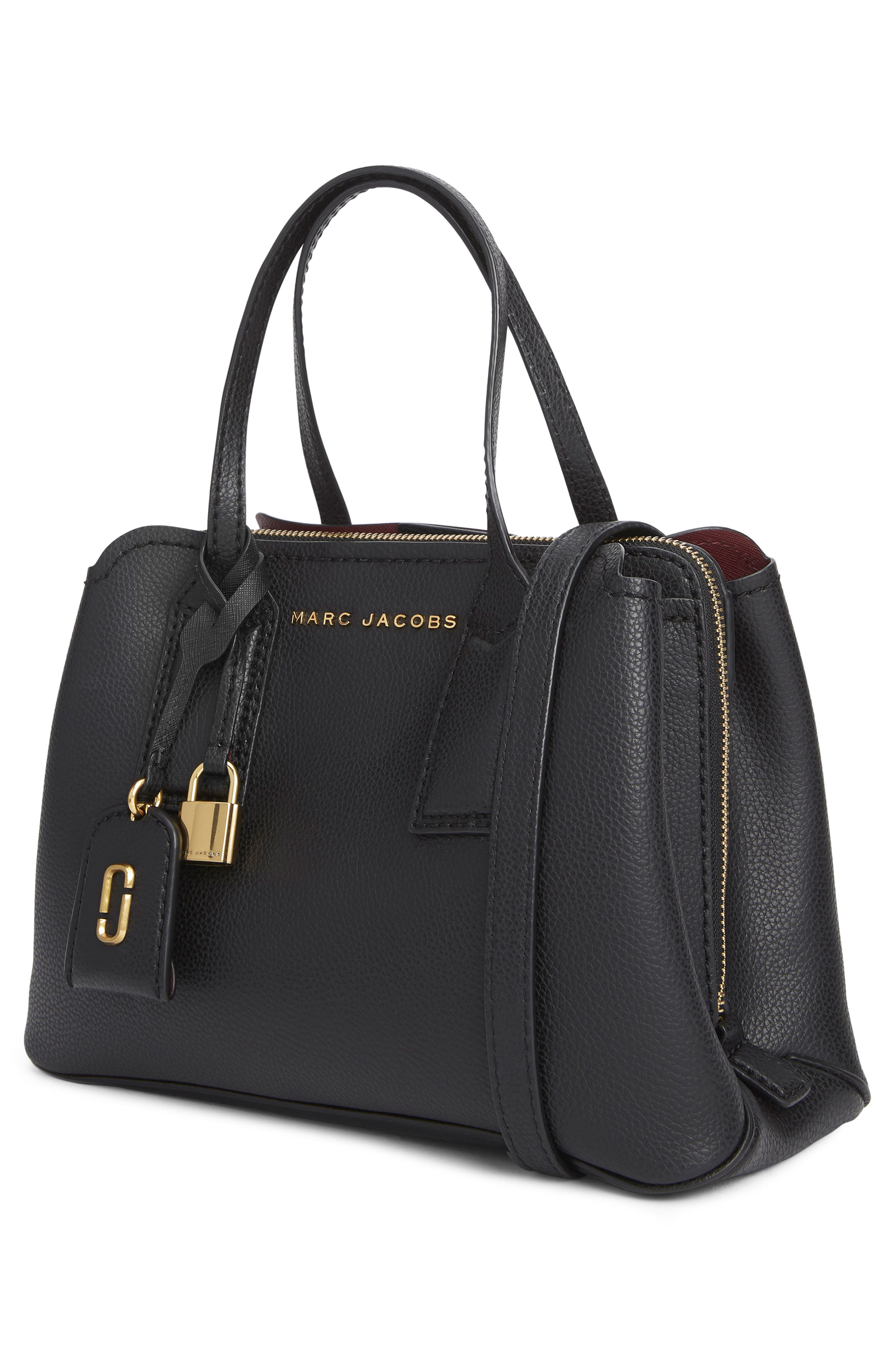 MARC JACOBS, The Editor 29 Leather Crossbody Bag, Alternate thumbnail 6, color, BLACK