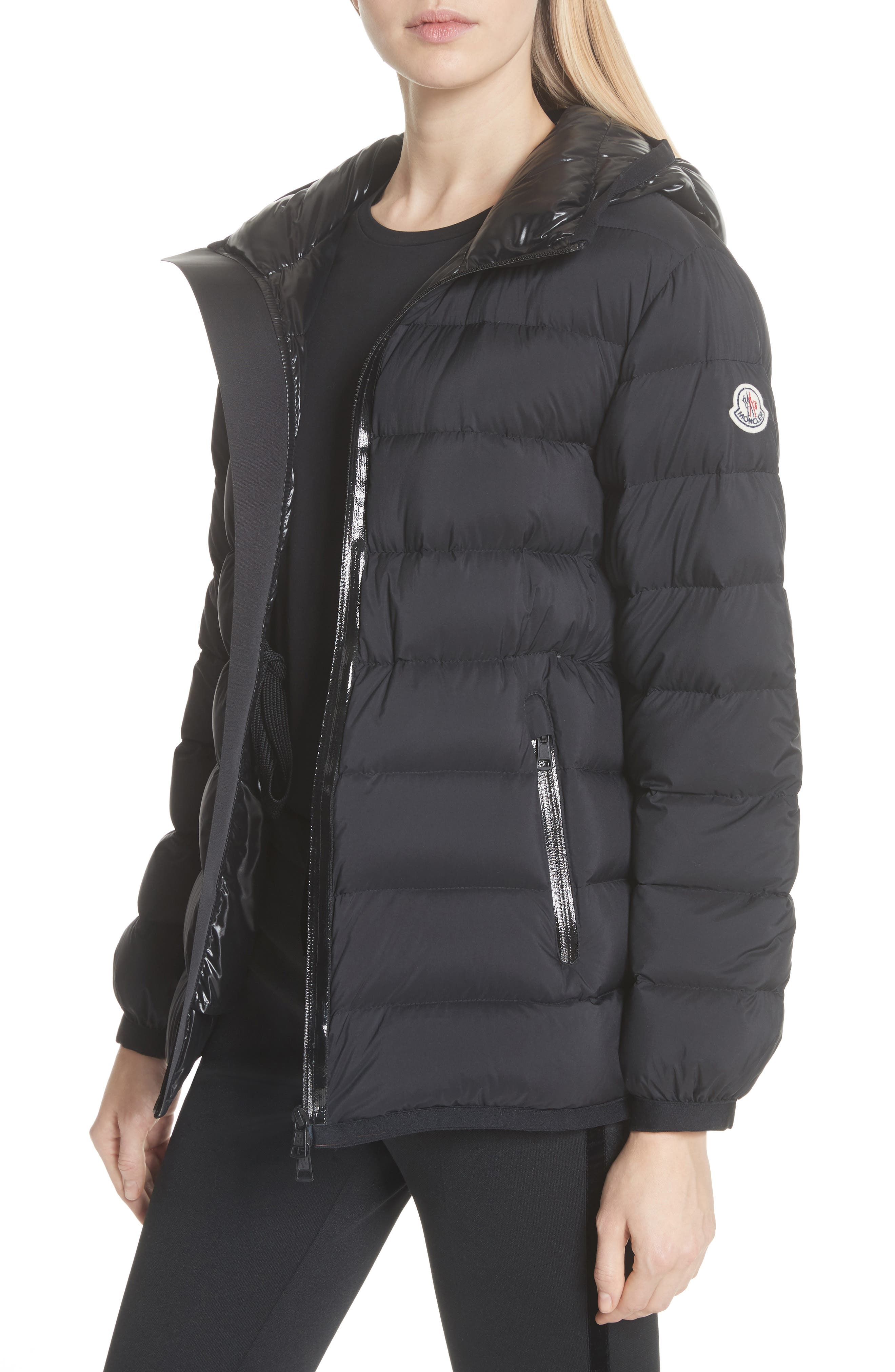 MONCLER, Goeland Quilted Down Jacket, Alternate thumbnail 5, color, 001
