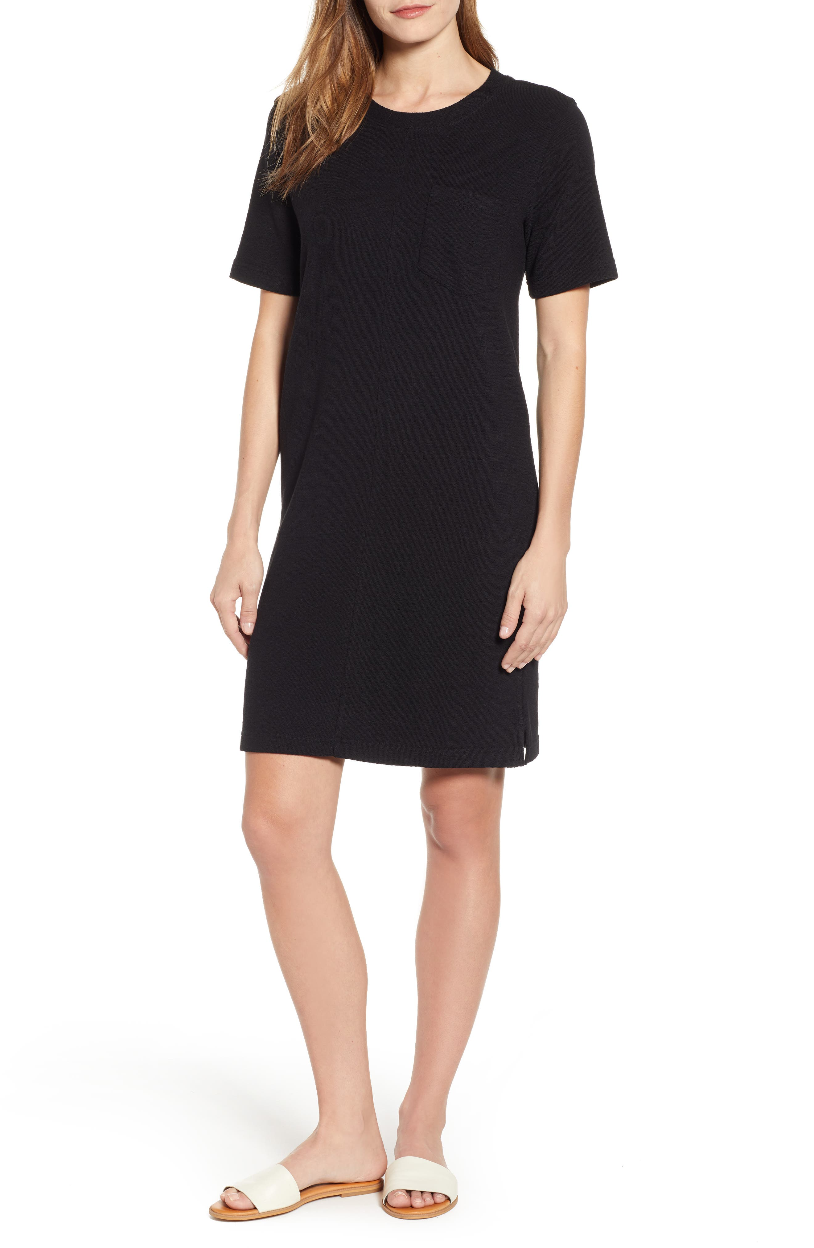 CASLON<SUP>®</SUP>, T-Shirt Dress, Main thumbnail 1, color, BLACK