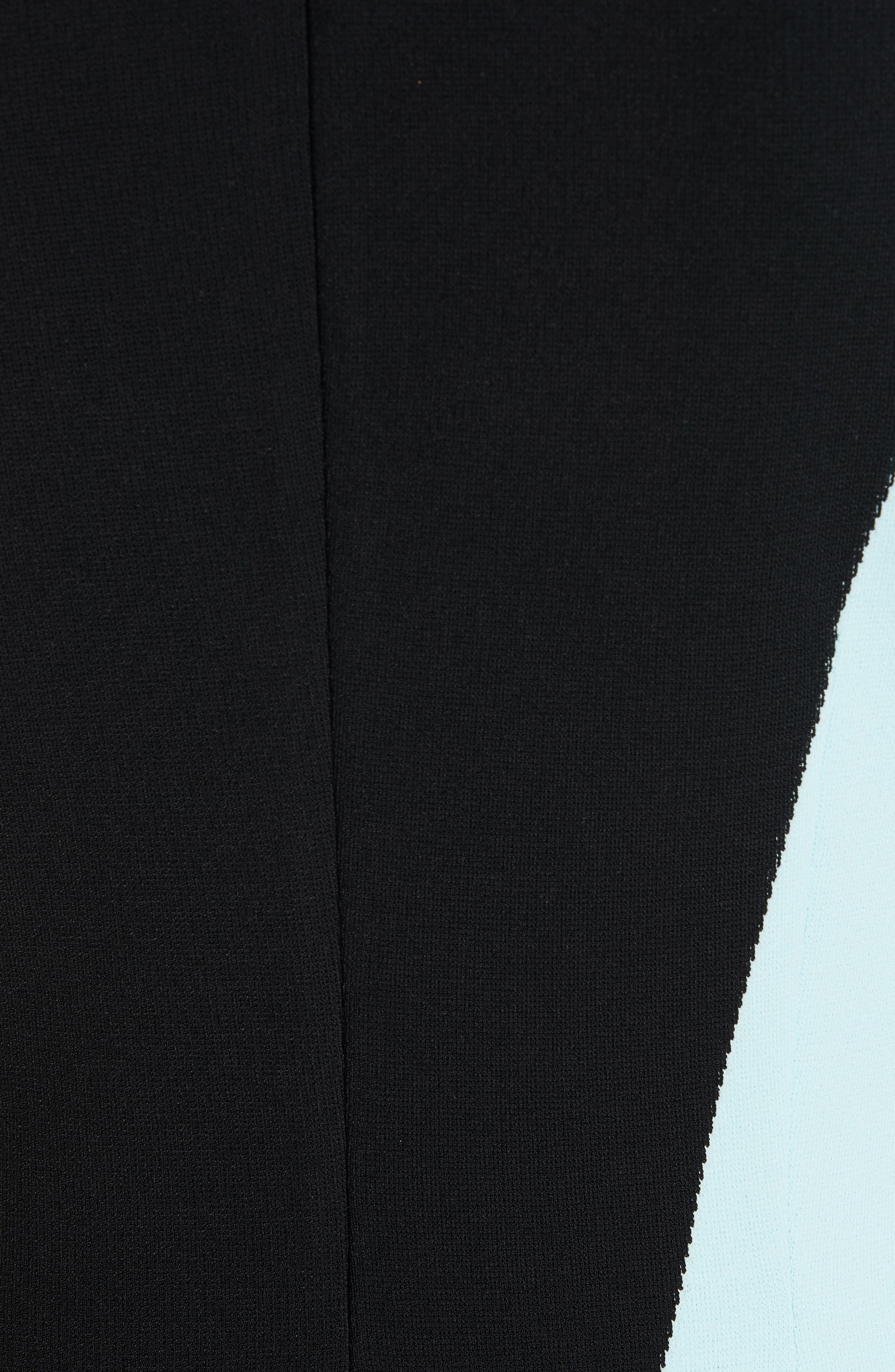 ST. JOHN COLLECTION, Luxe Sculpture Knit Dress, Alternate thumbnail 6, color, SEAFOAM/ CAVIAR