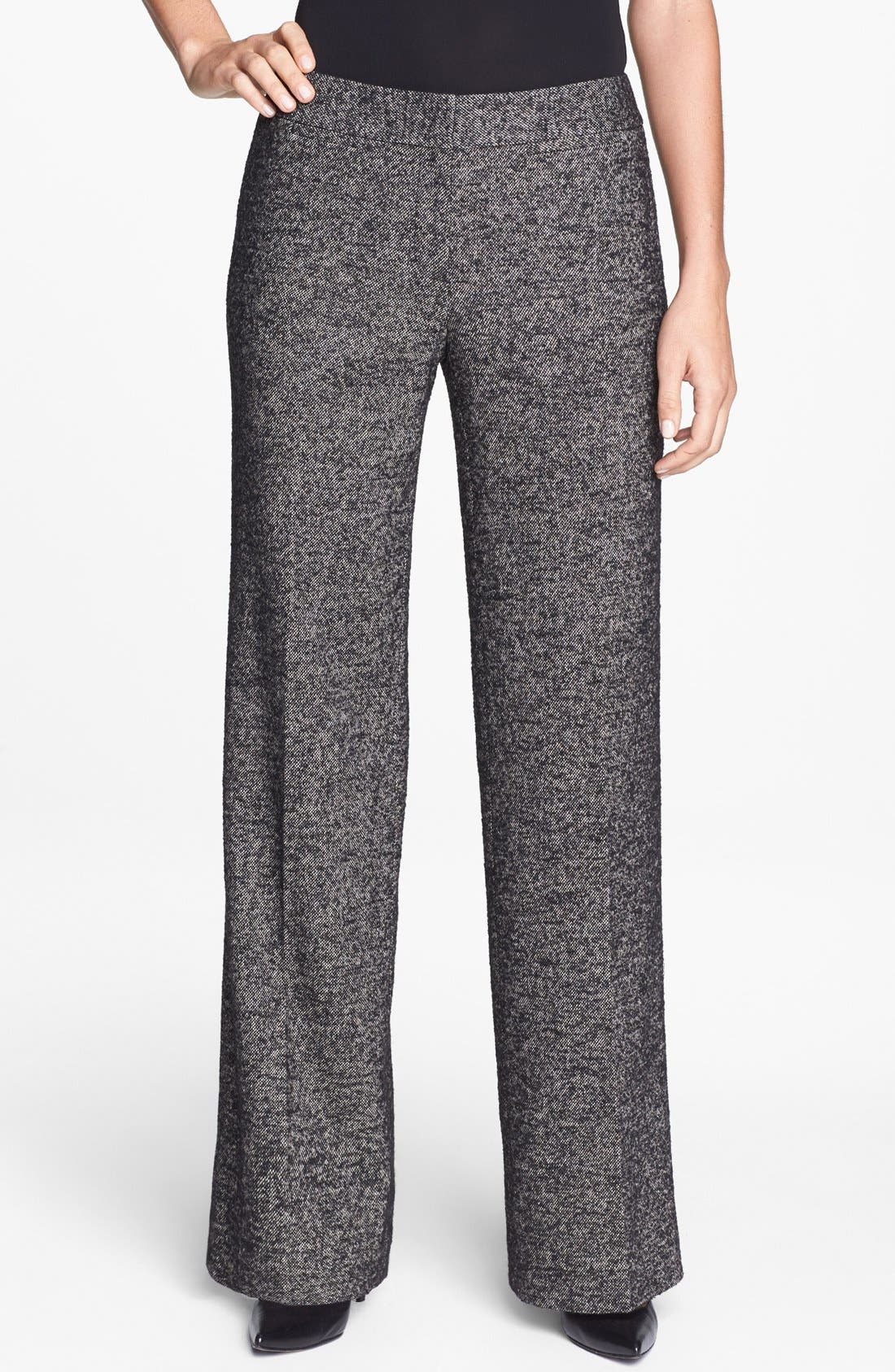 CLASSIQUES ENTIER<SUP>®</SUP>, 'Vedera Tweed' Trousers, Main thumbnail 1, color, 001