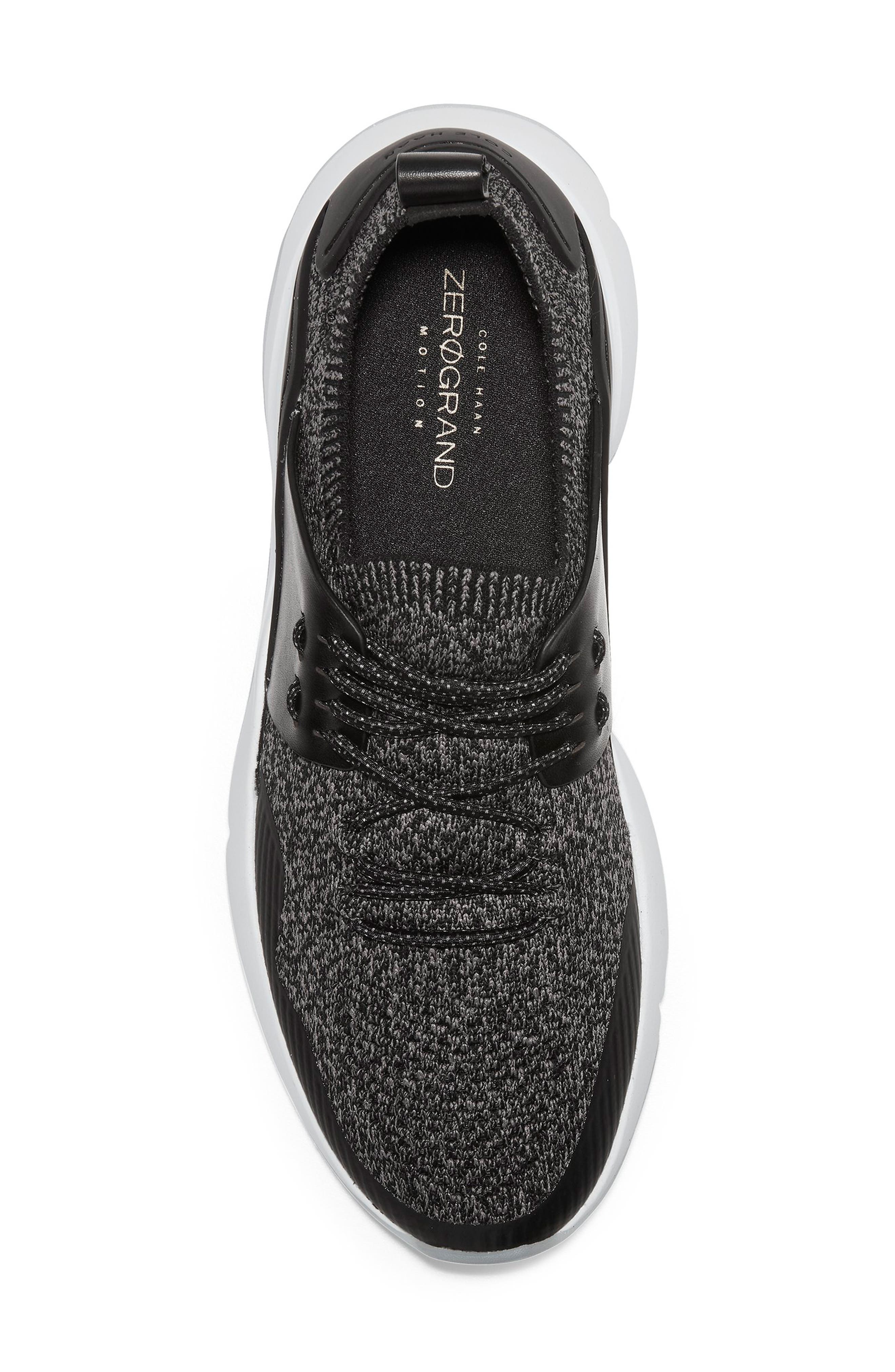 COLE HAAN, ZeroGrand All Day Trainer Sneaker, Alternate thumbnail 5, color, BLACK LEATHER