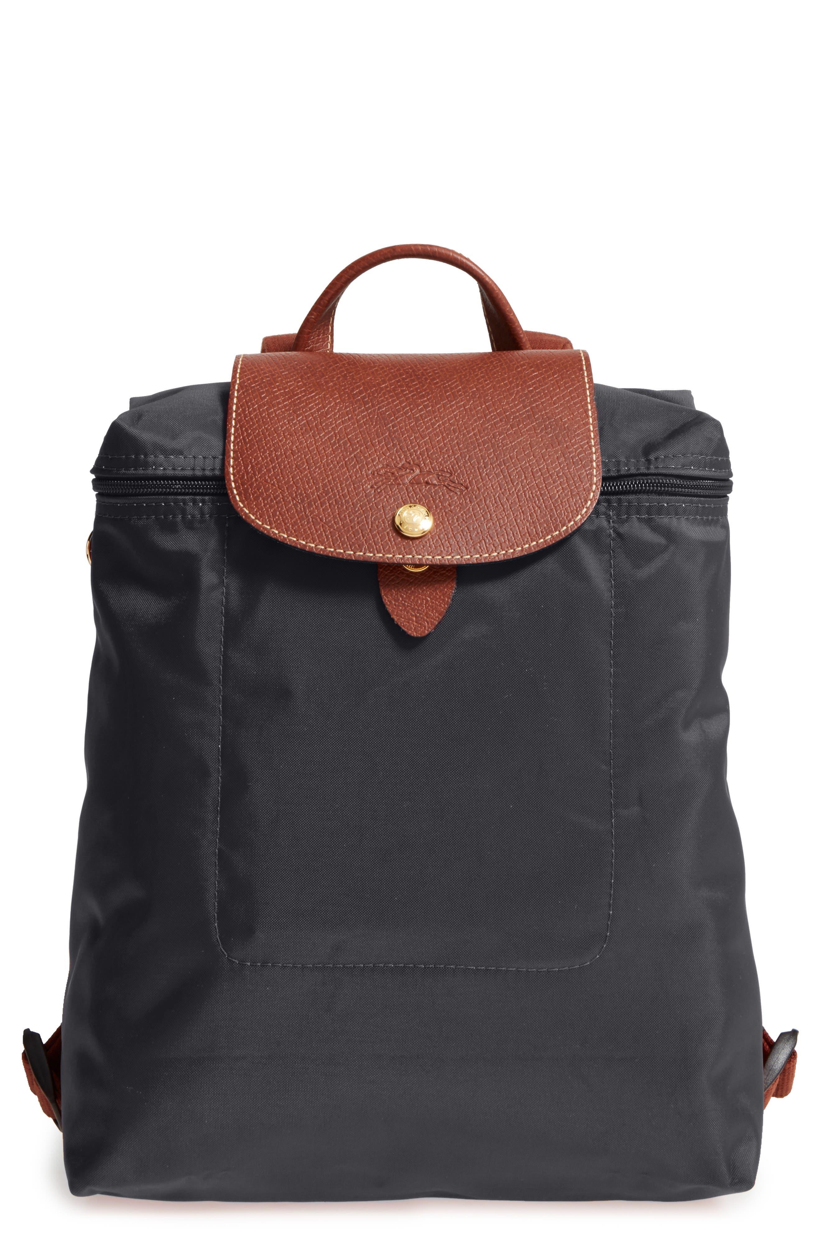 LONGCHAMP, 'Le Pliage' Backpack, Main thumbnail 1, color, GUNMETAL