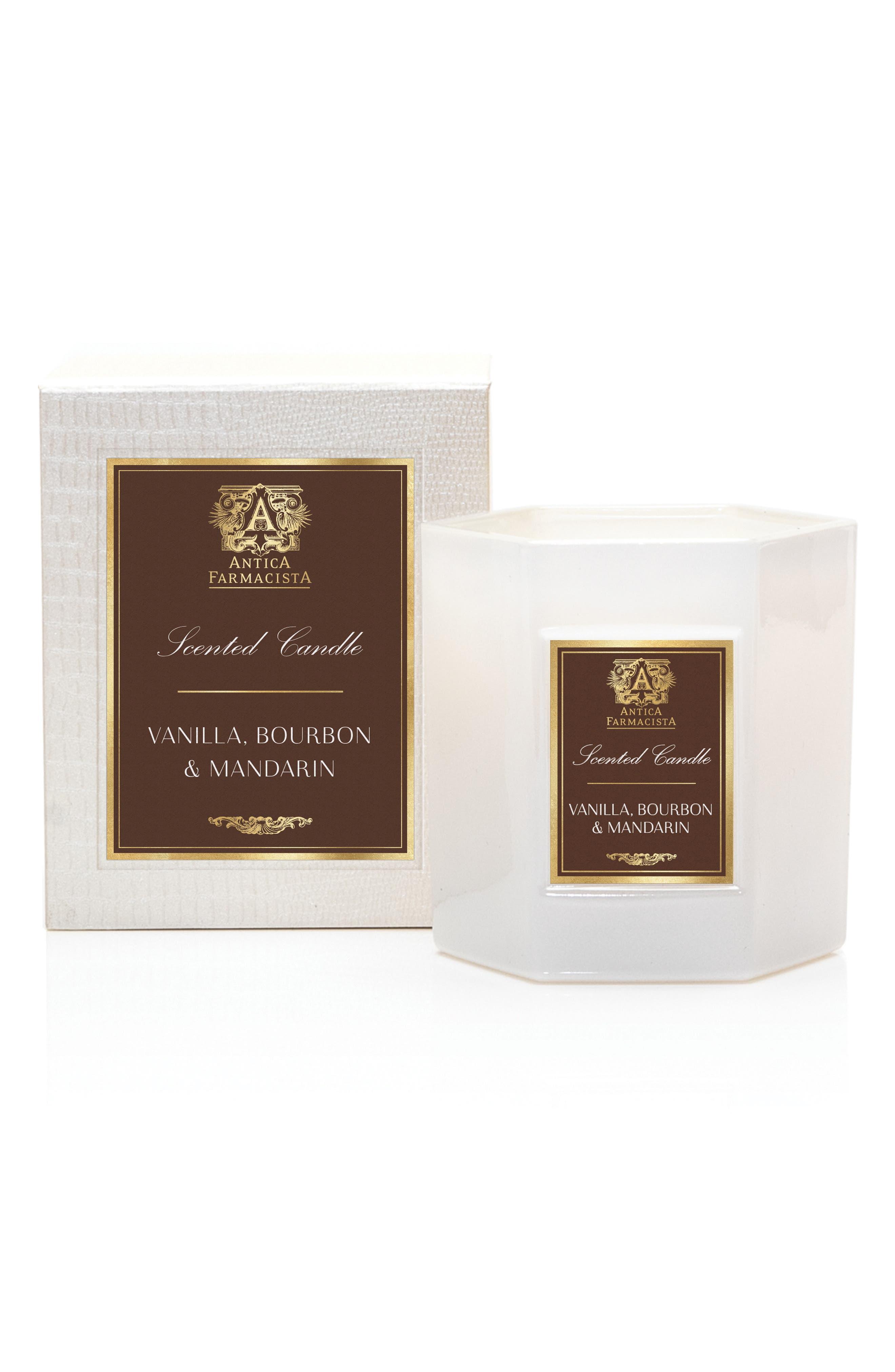 ANTICA FARMACISTA Vanilla Bourbon and Mandarin Hexagonal Candle, Main, color, 000