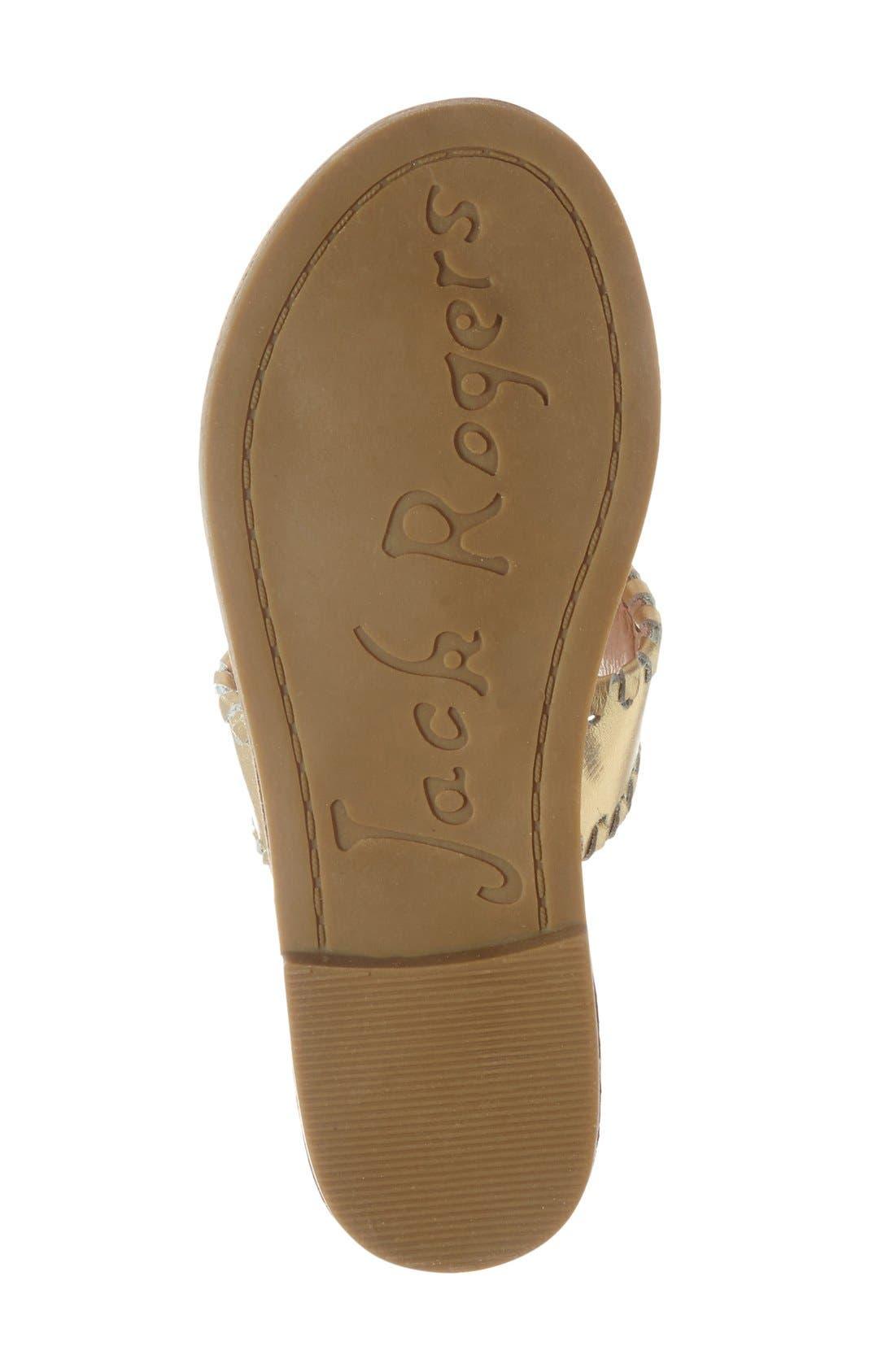 JACK ROGERS, 'Miss Hamptons' Sandal, Alternate thumbnail 4, color, GOLD
