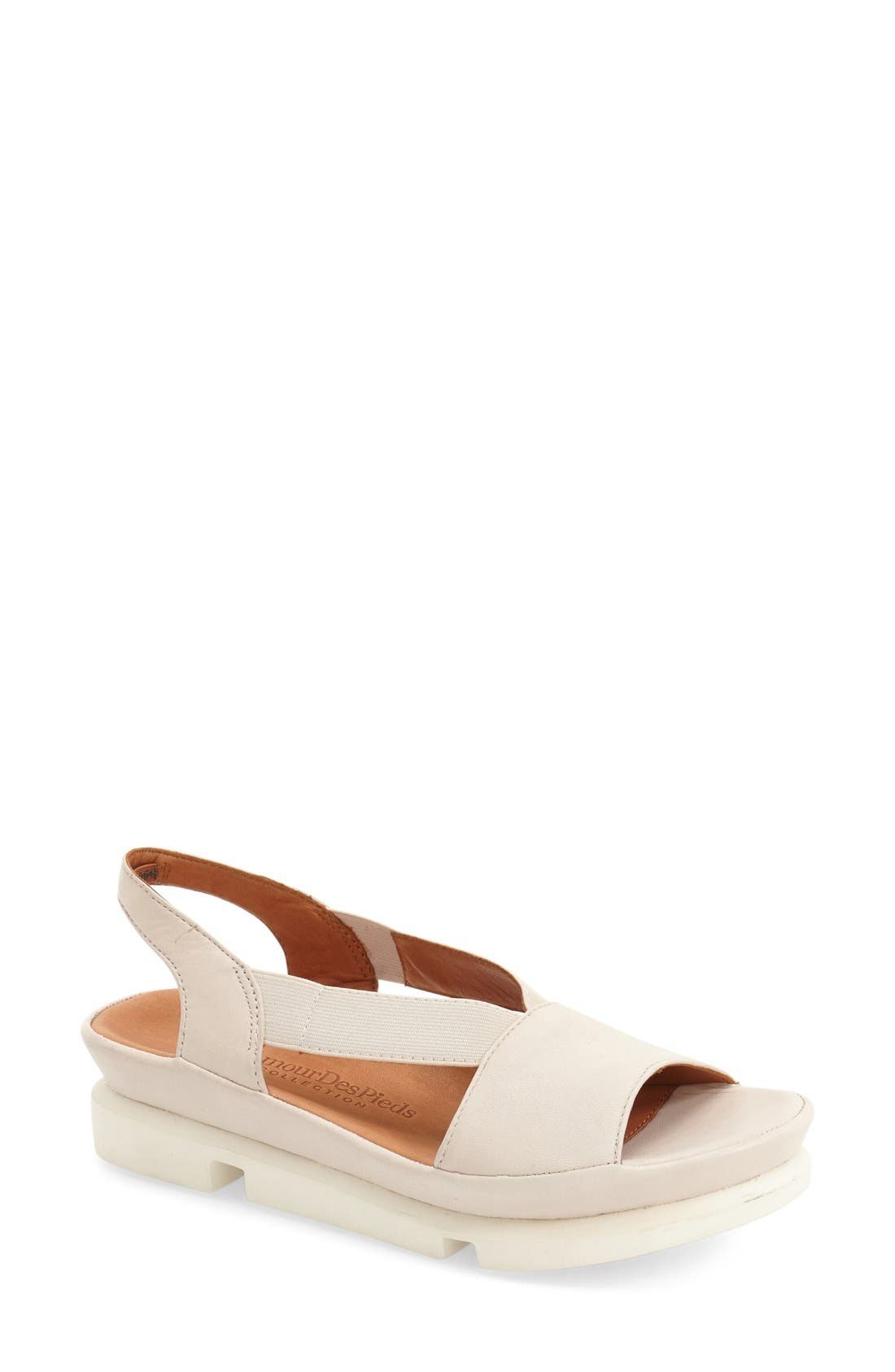 L'AMOUR DES PIEDS 'Vivyan' Sandal, Main, color, STONE LEATHER