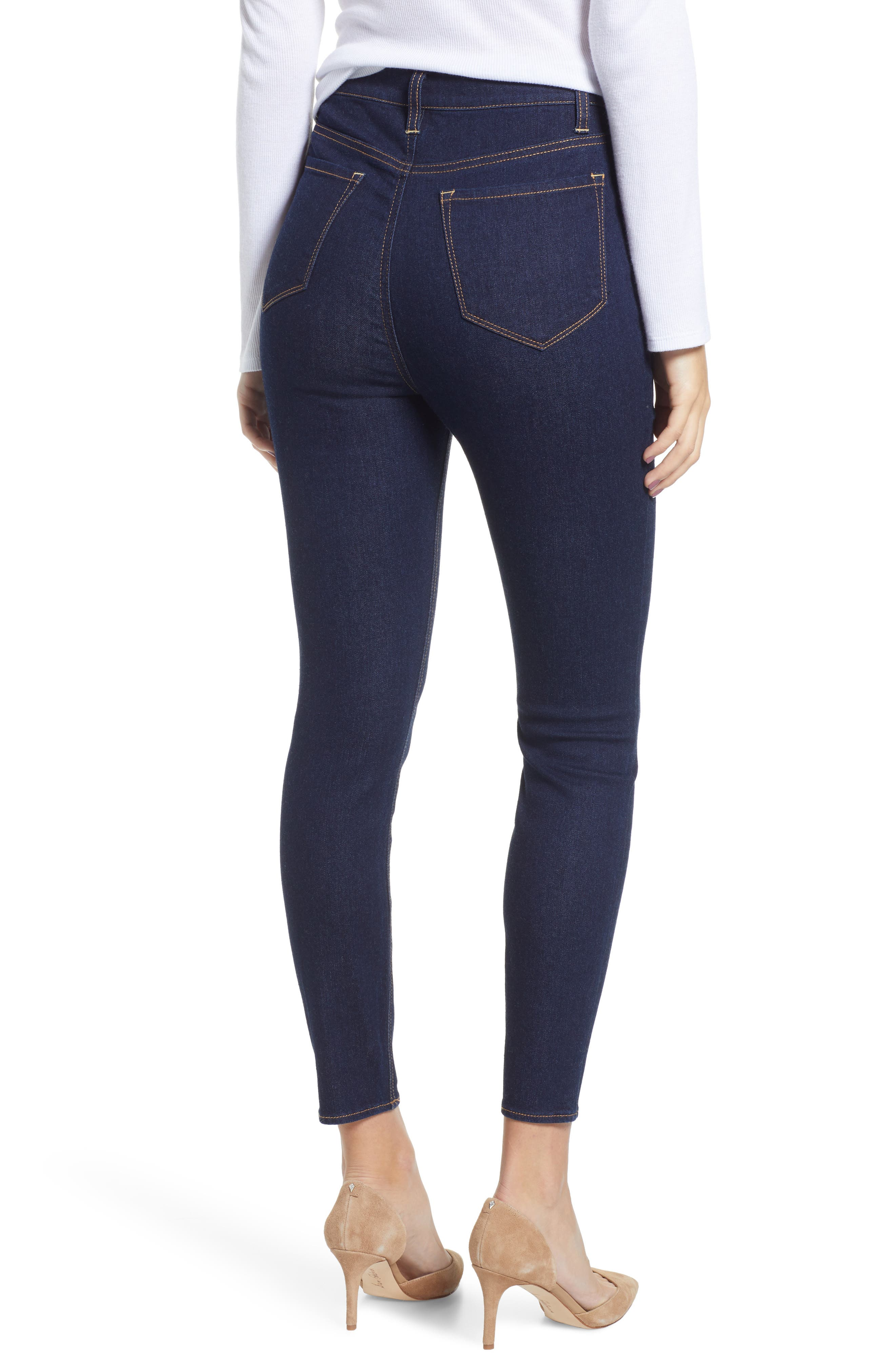TINSEL, High Waist Skinny Jeans, Alternate thumbnail 2, color, 401