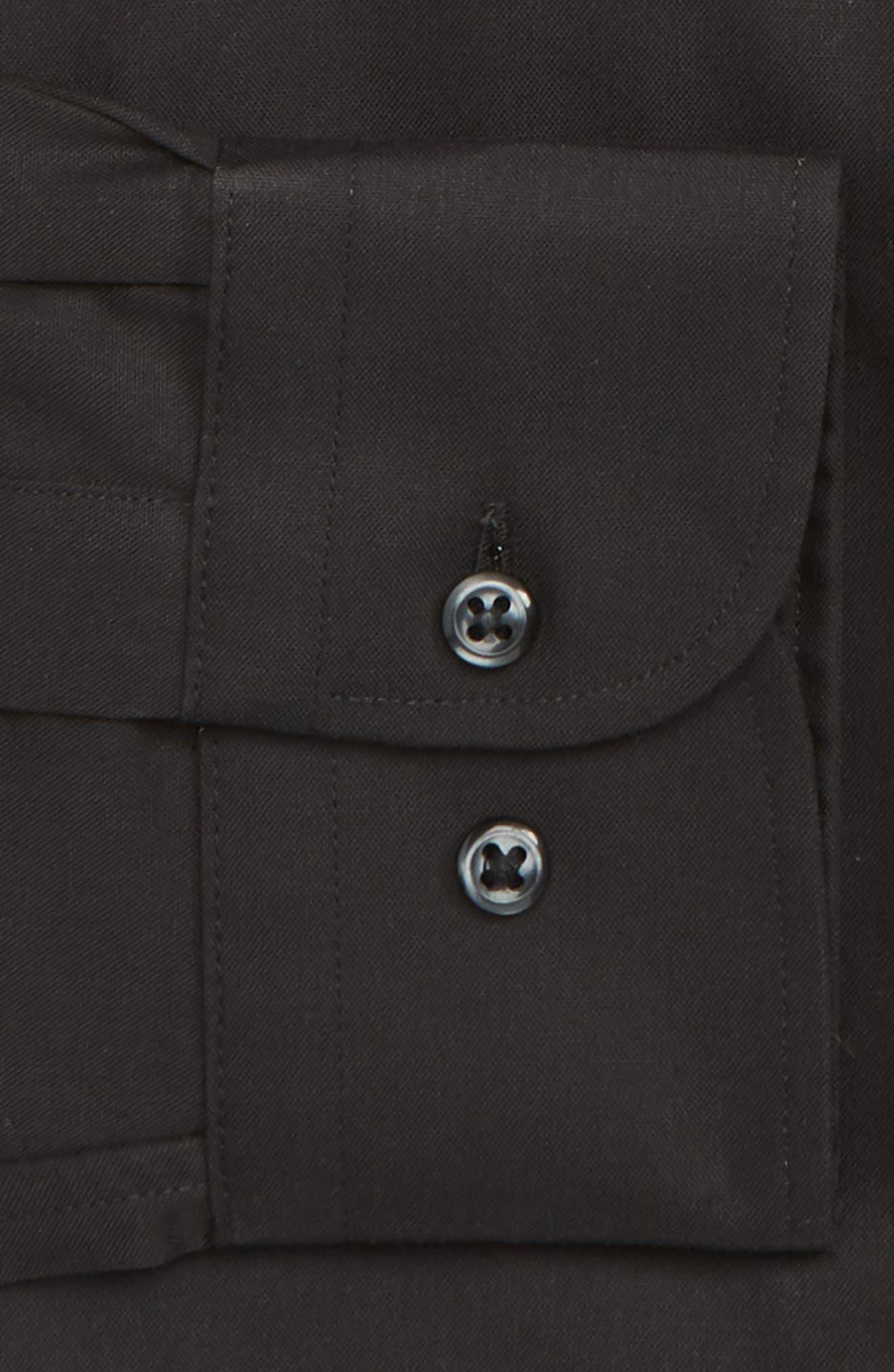 NORDSTROM MEN'S SHOP, Traditional Fit Non-Iron Dress Shirt, Alternate thumbnail 2, color, BLACK