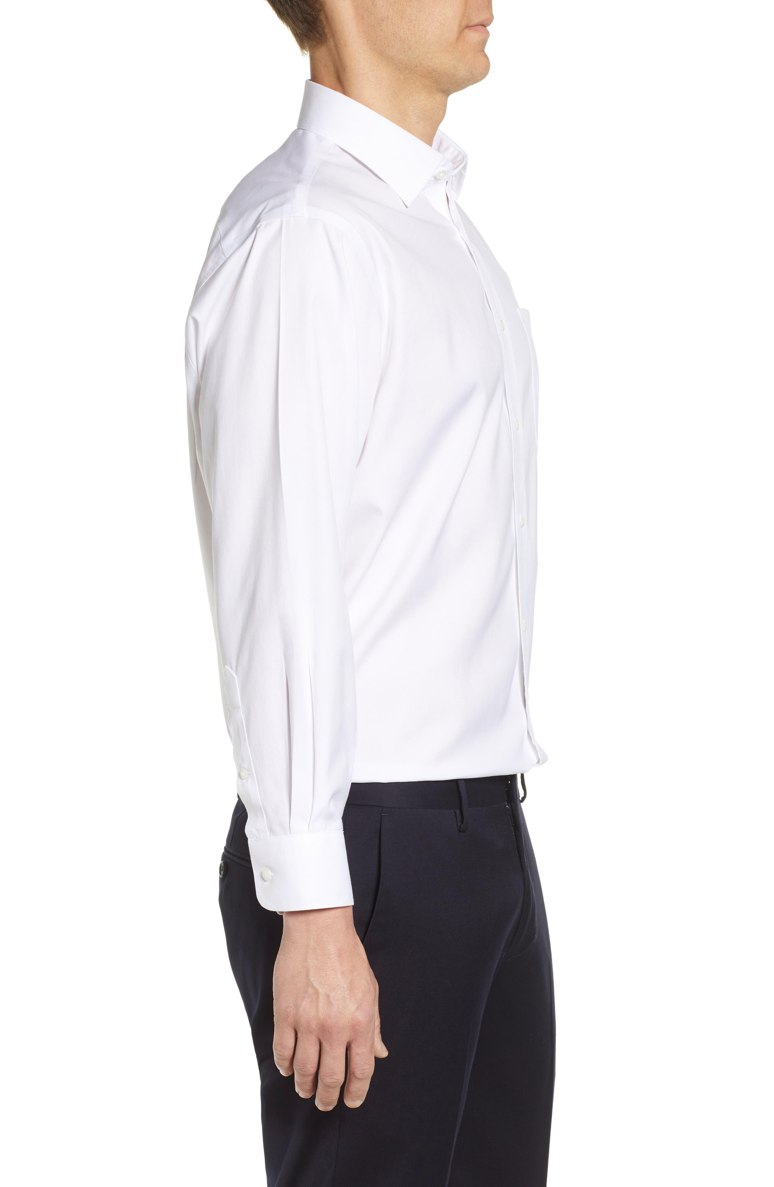 NORDSTROM MEN'S SHOP, Smartcare<sup>™</sup> Classic Fit Solid Dress Shirt, Alternate thumbnail 4, color, WHITE BRILLIANT