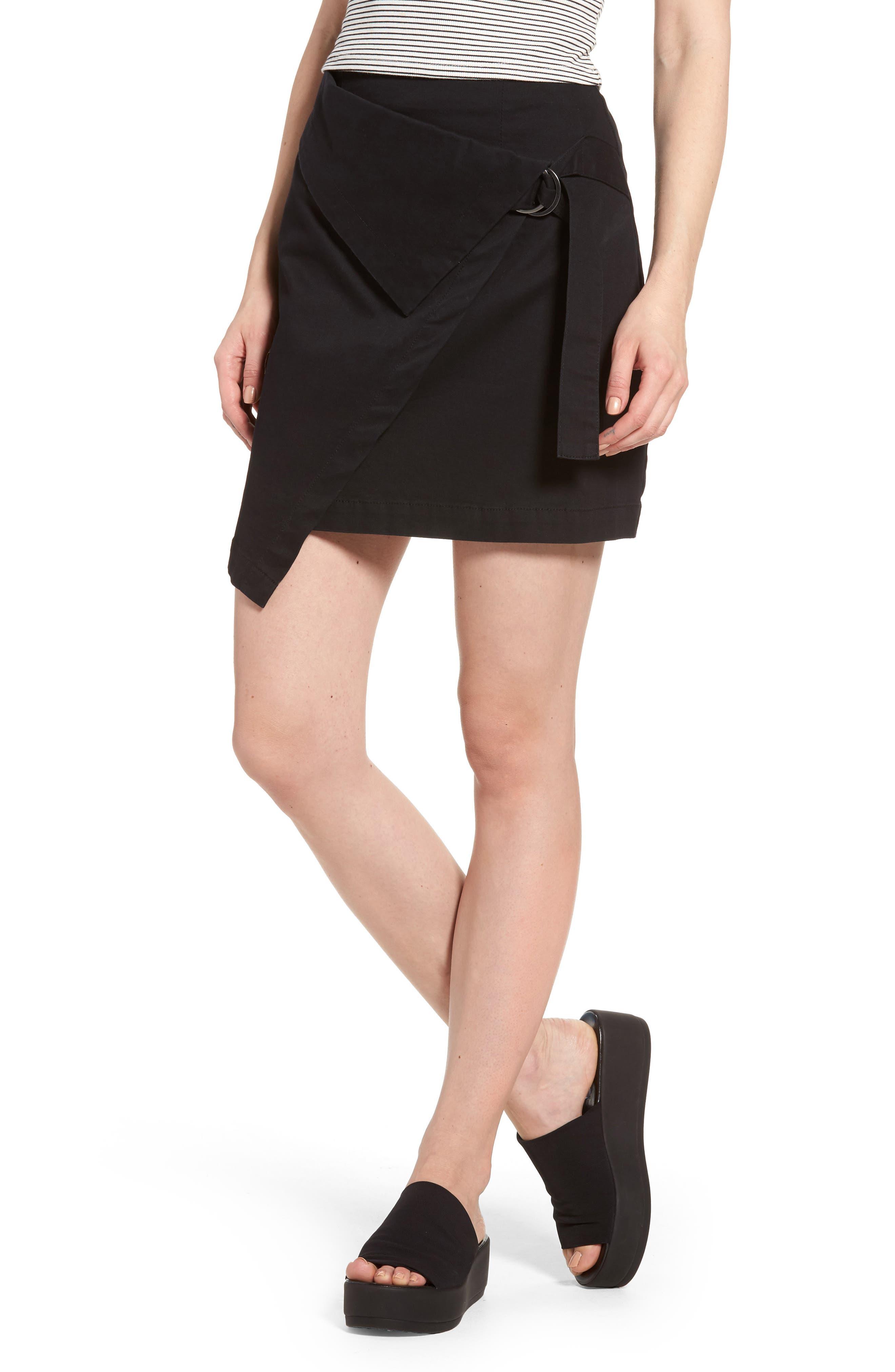 THE FIFTH LABEL City Sounds Wrap Skirt, Main, color, 001