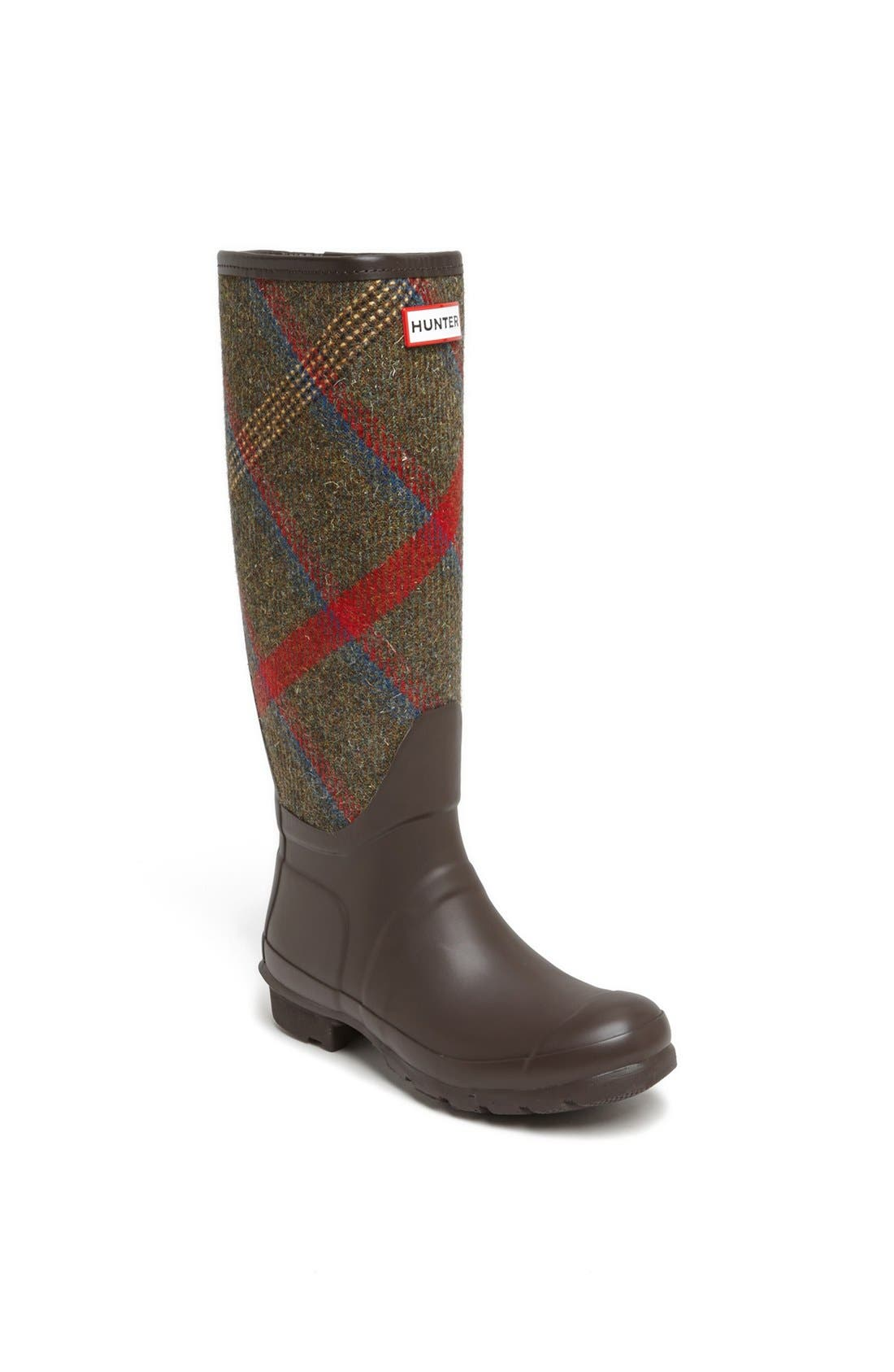 HUNTER 'Original Mallalieus' Plaid Rain Boot, Main, color, 205
