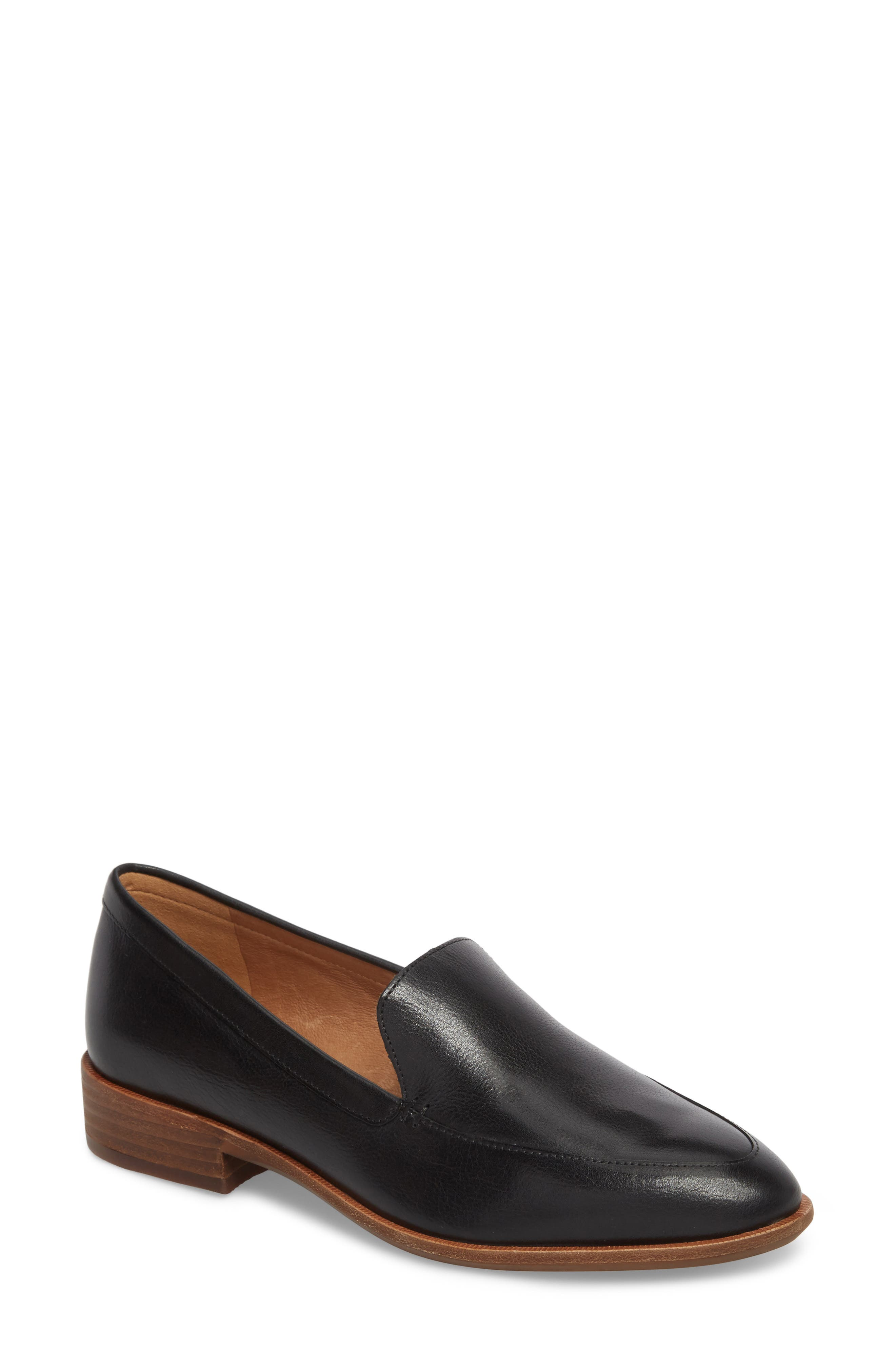 MADEWELL, The Frances Loafer, Main thumbnail 1, color, TRUE BLACK LEATHER