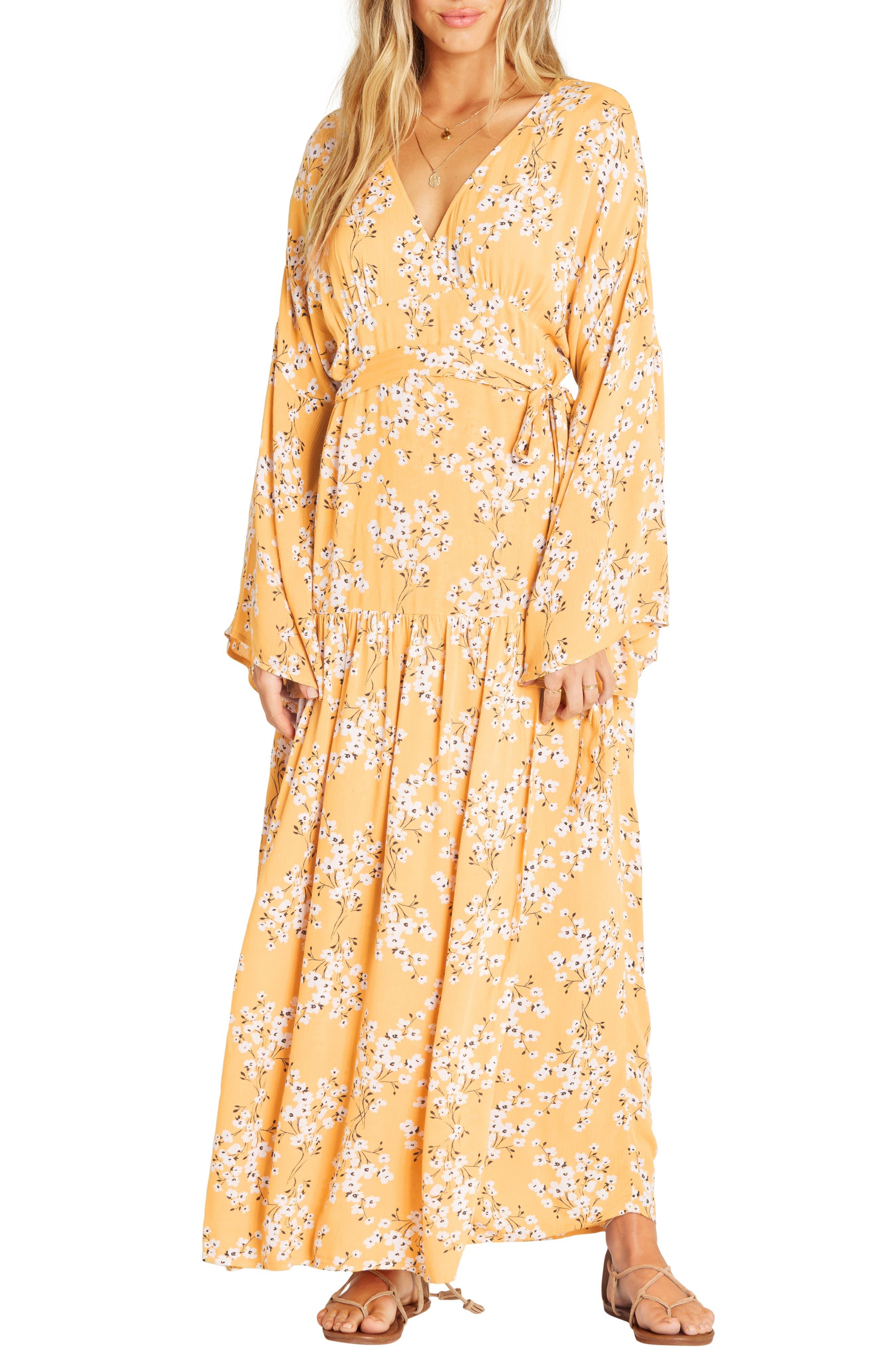 BILLABONG My Favorite Maxi Dress, Main, color, GOLDEN HOUR