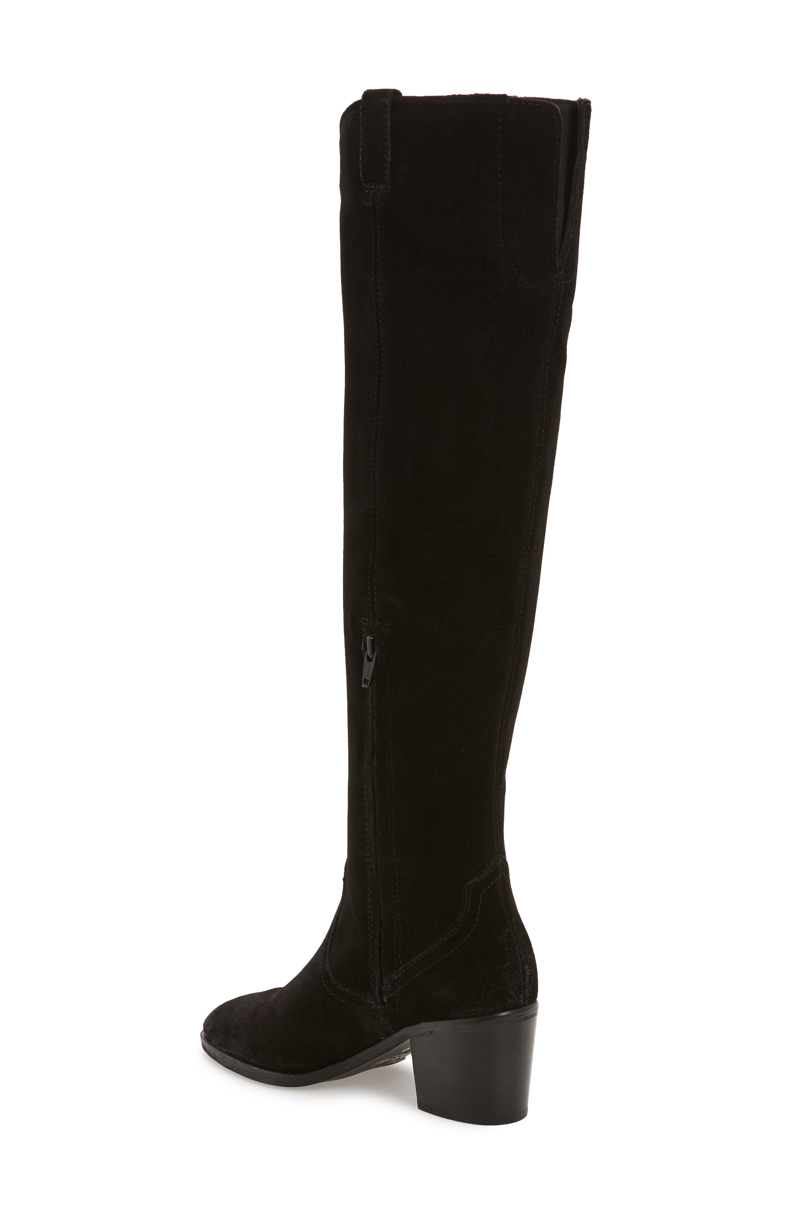 SBICCA, Delano Over the Knee Boot, Alternate thumbnail 2, color, BLACK LEATHER
