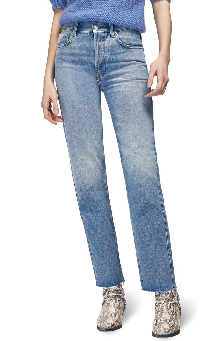 Anine Bing Jeans JACKIE RAW HEM STRAIGHT LEG JEANS