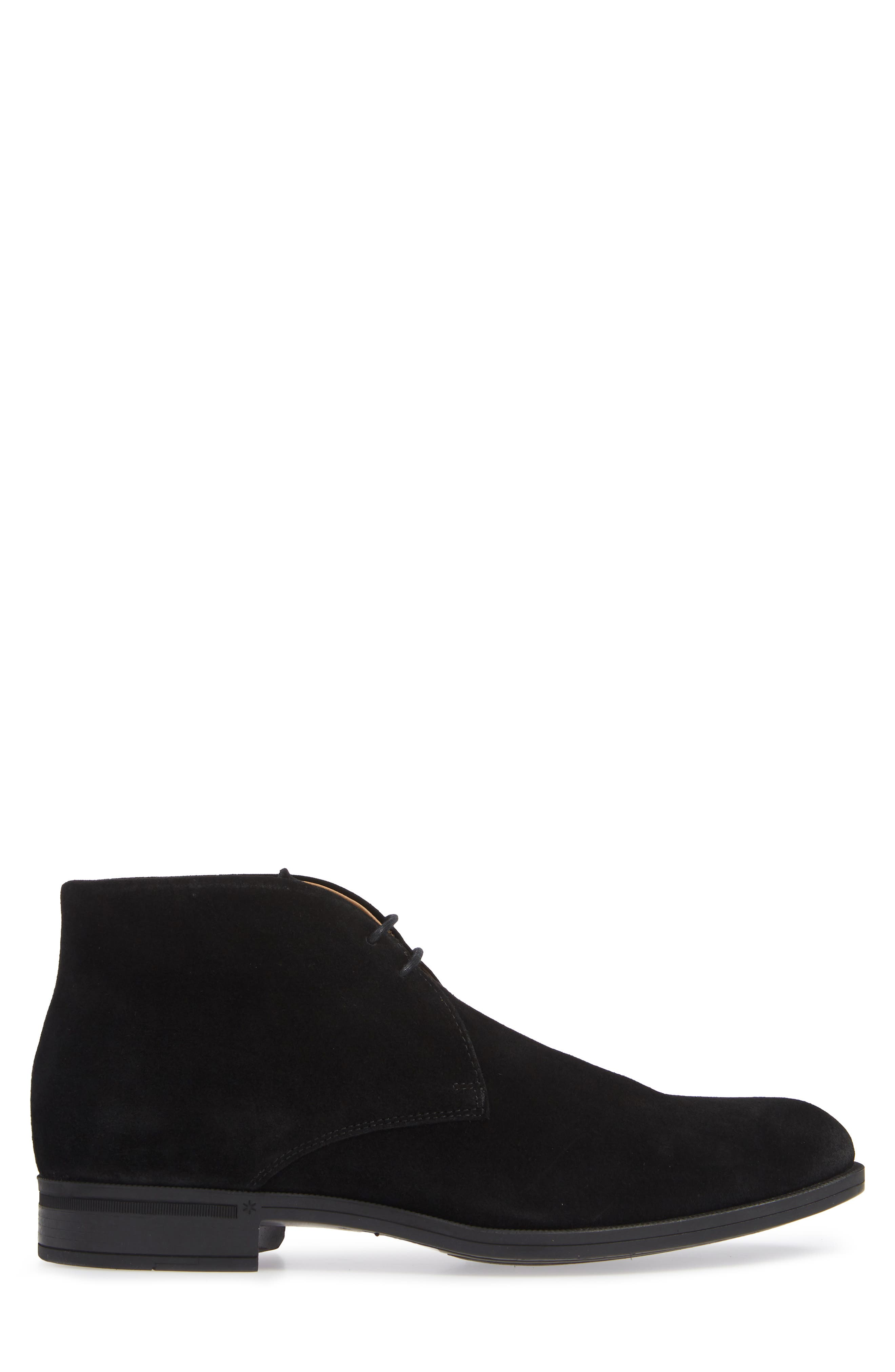 VINCE CAMUTO, Iden Chukka Boot, Alternate thumbnail 3, color, BLACK SUEDE