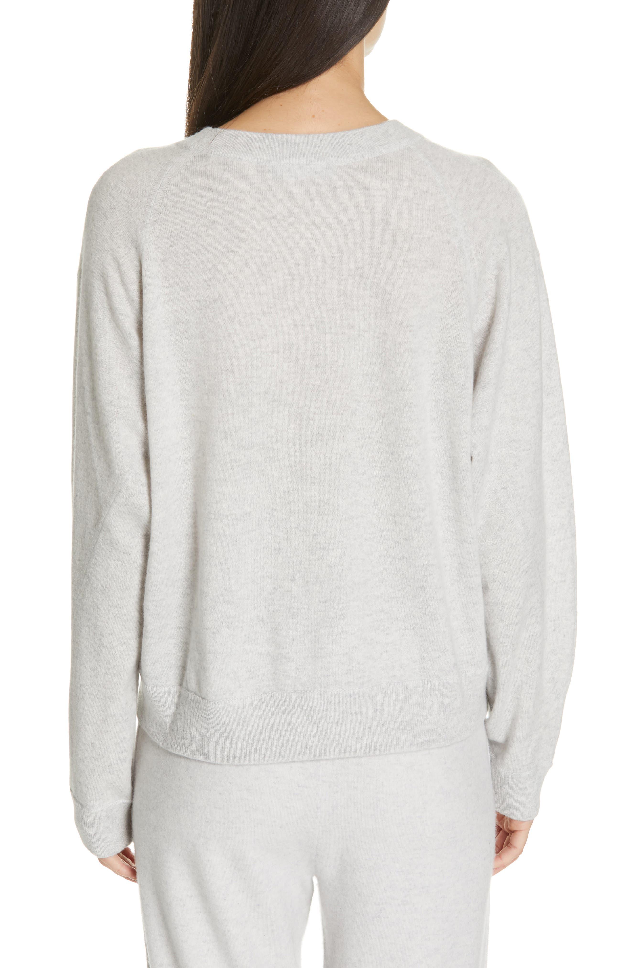 VINCE, Boxy Cashmere Sweater, Alternate thumbnail 2, color, LIGHT HEATHER GREY