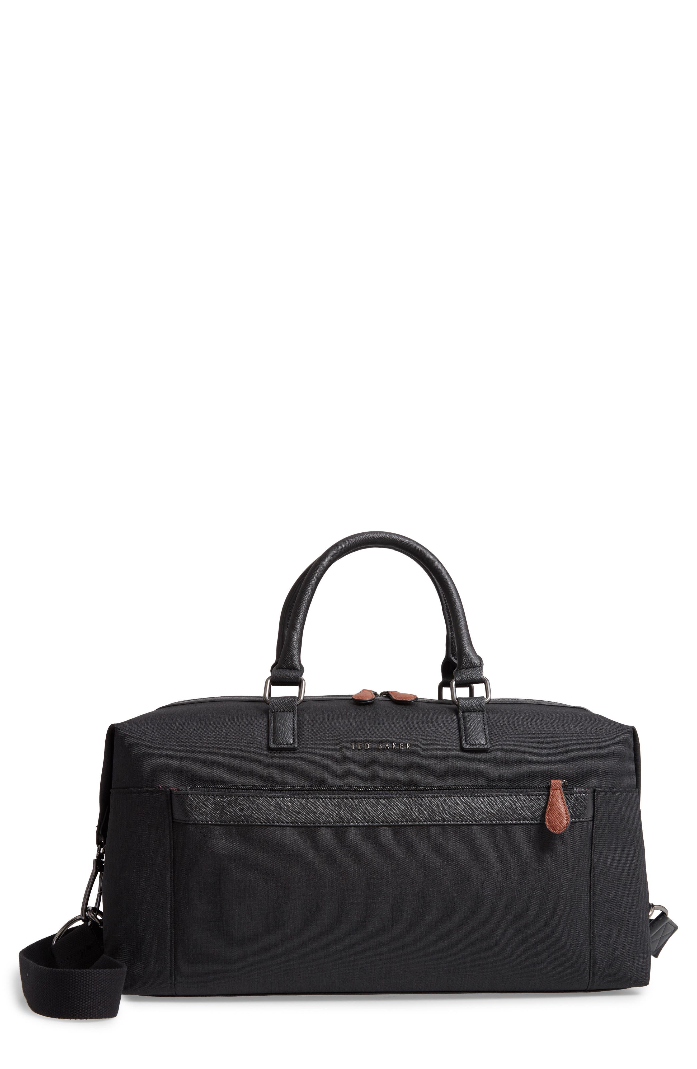 TED BAKER LONDON Dennie Holdall Bag, Main, color, BLACK