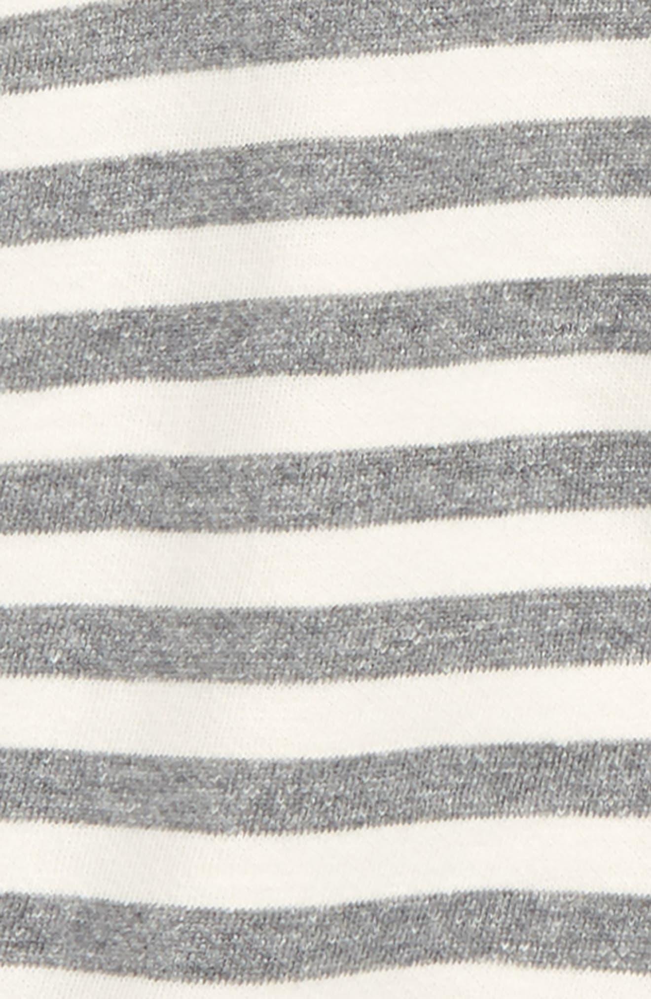 NORDSTROM BABY, Stripe Hooded Romper, Alternate thumbnail 2, color, 900